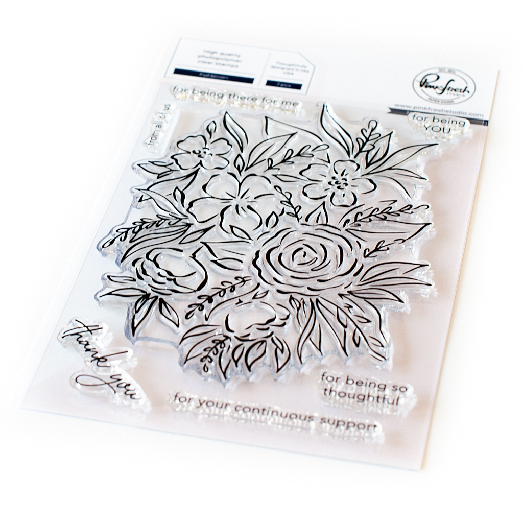 Pinkfresh Studio Clear Stamp Set 4X6-Full Bloom