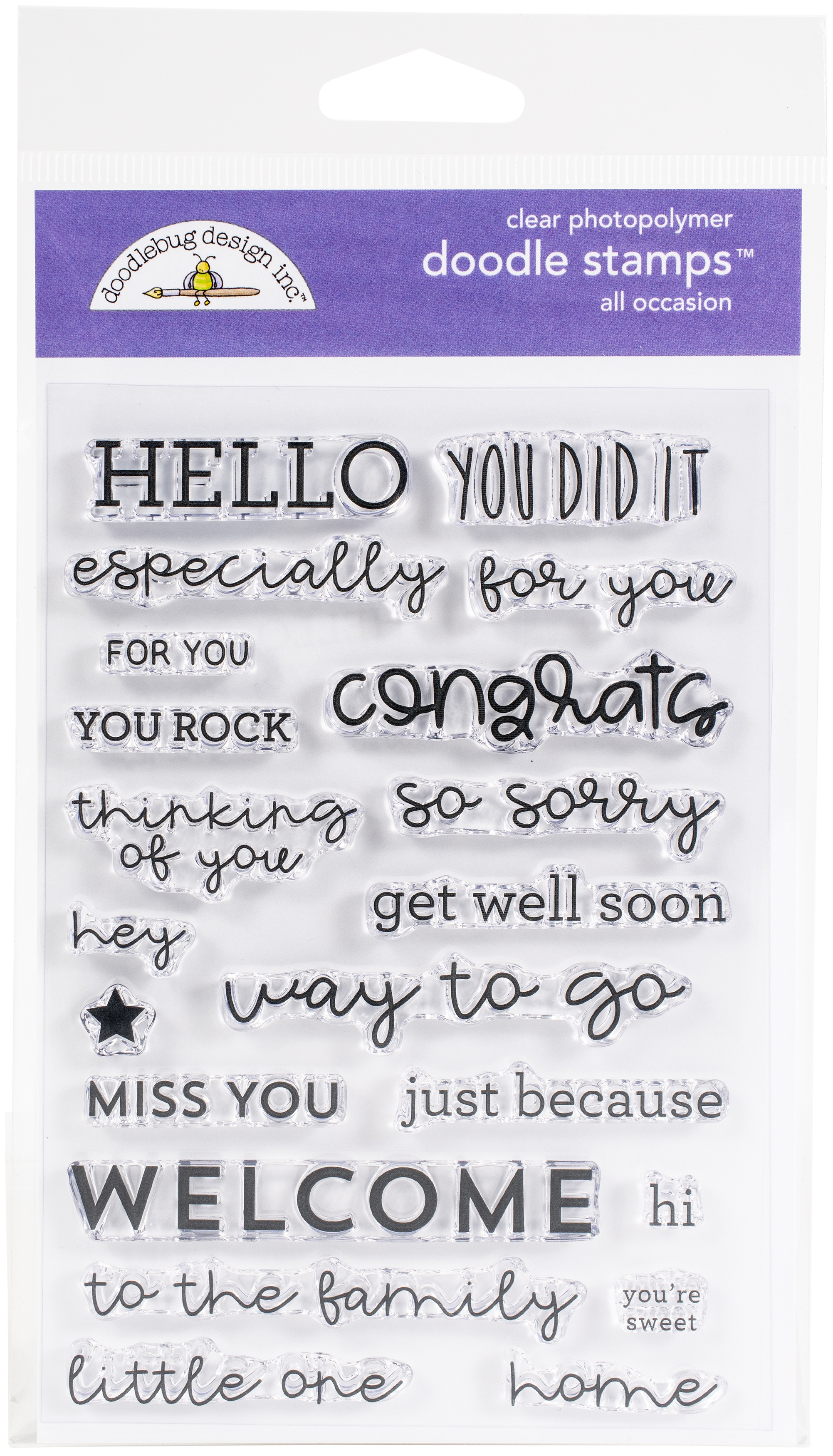 Doodlebug Clear Doodle Stamps-All Occasions