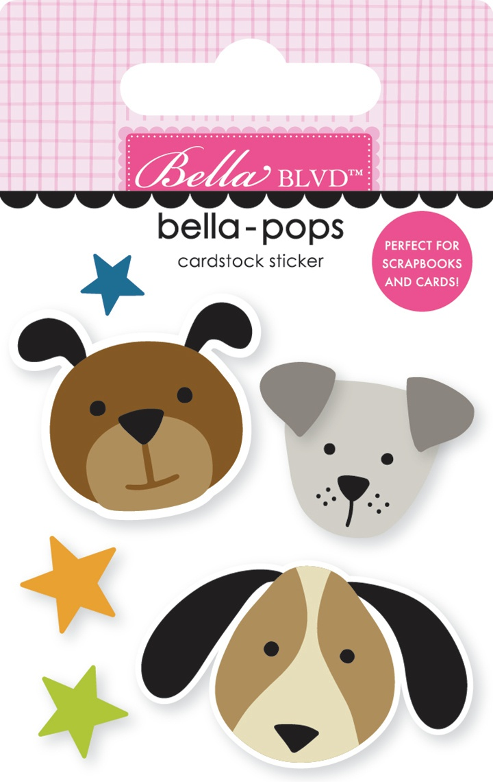Cooper Bella-Pops 3d Stickers-Pups