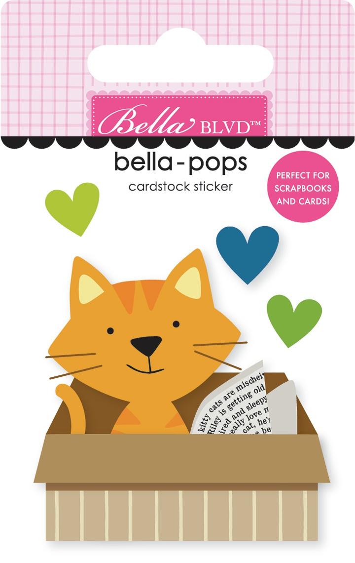 Chloe Bella-Pops 3D Stickers-Cat In A Box