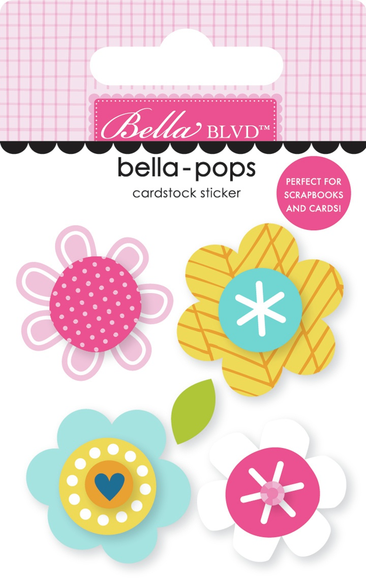 Chloe Bella-Pops 3D Stickers-Blossoms