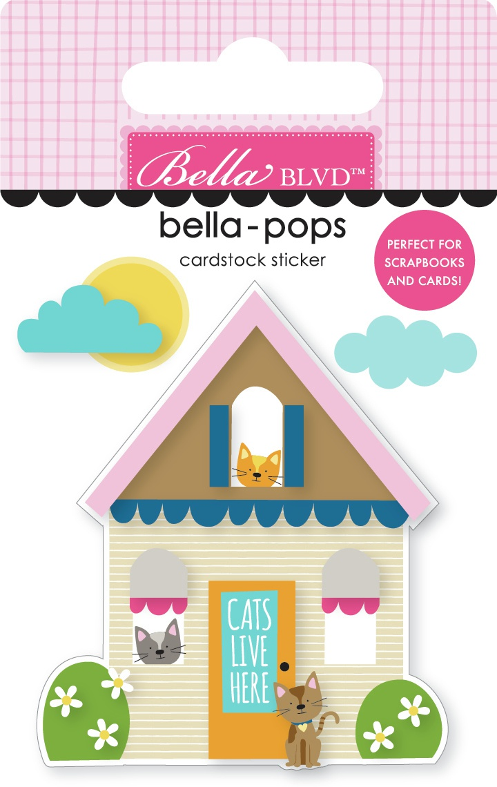 Chloe Bella-Pops 3D Stickers-Cat House