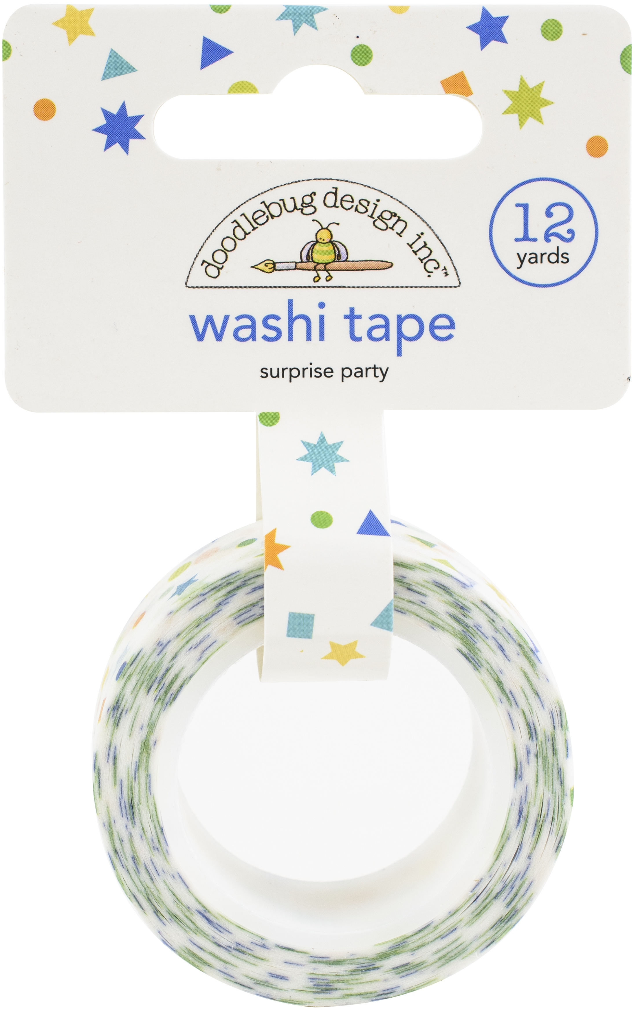 Doodlebug Washi Tape 15mmX12yd-Surprise Party, Party Time