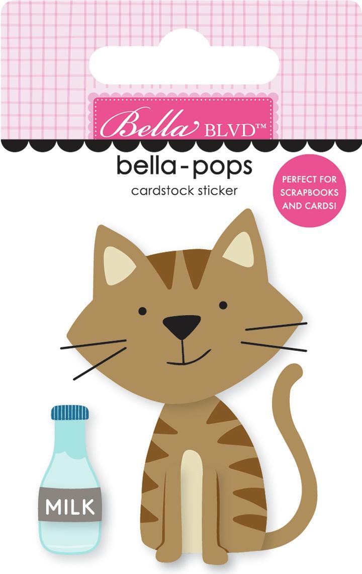 Chloe Bella-Pops 3D Stickers-Tabby Cat