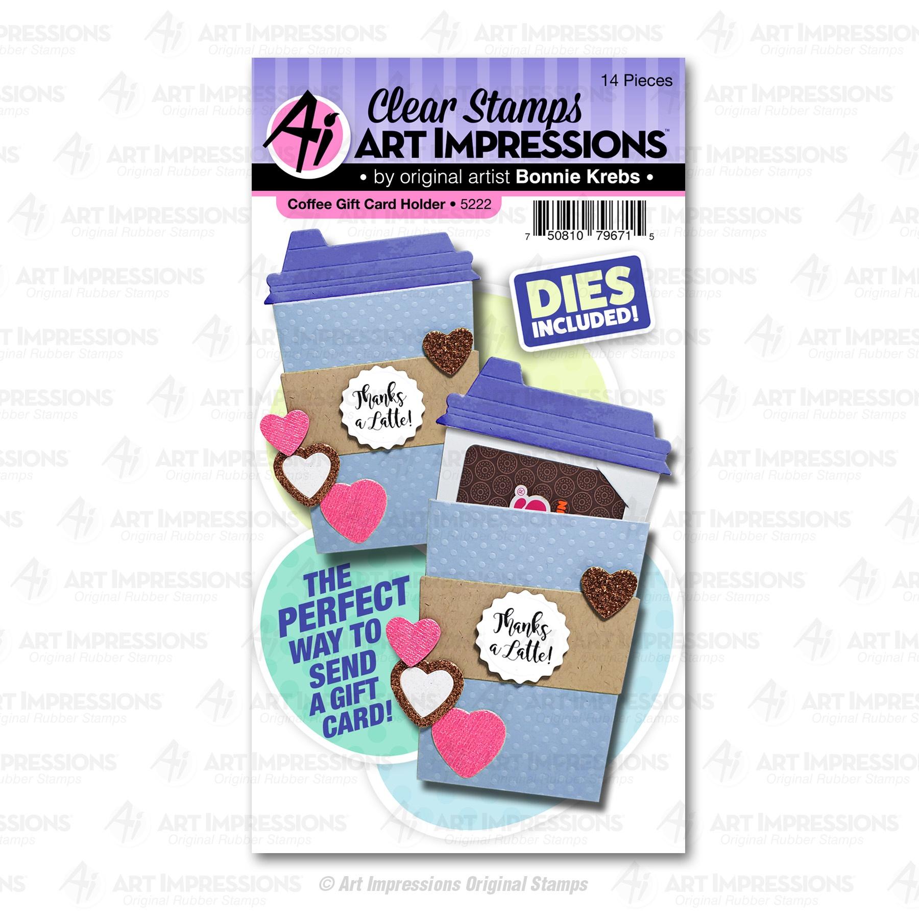 Coffee Gift Card Holder Stamp & Die Set