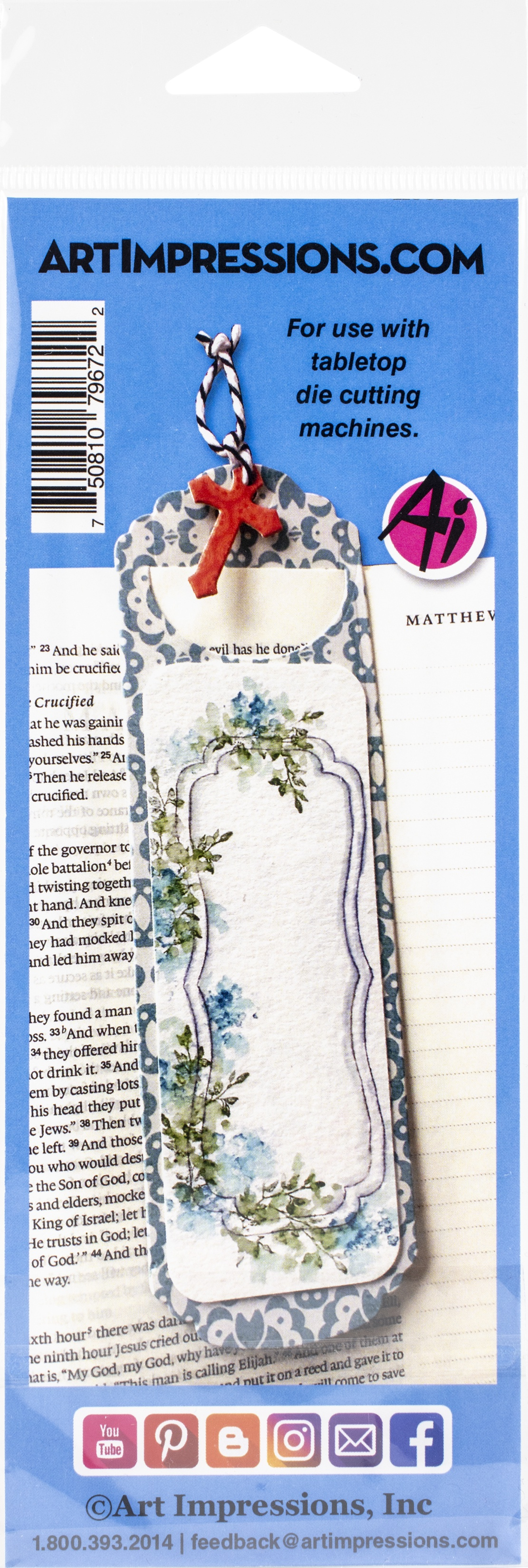 Art Impressions Bible Journaling Dies-Bookmark