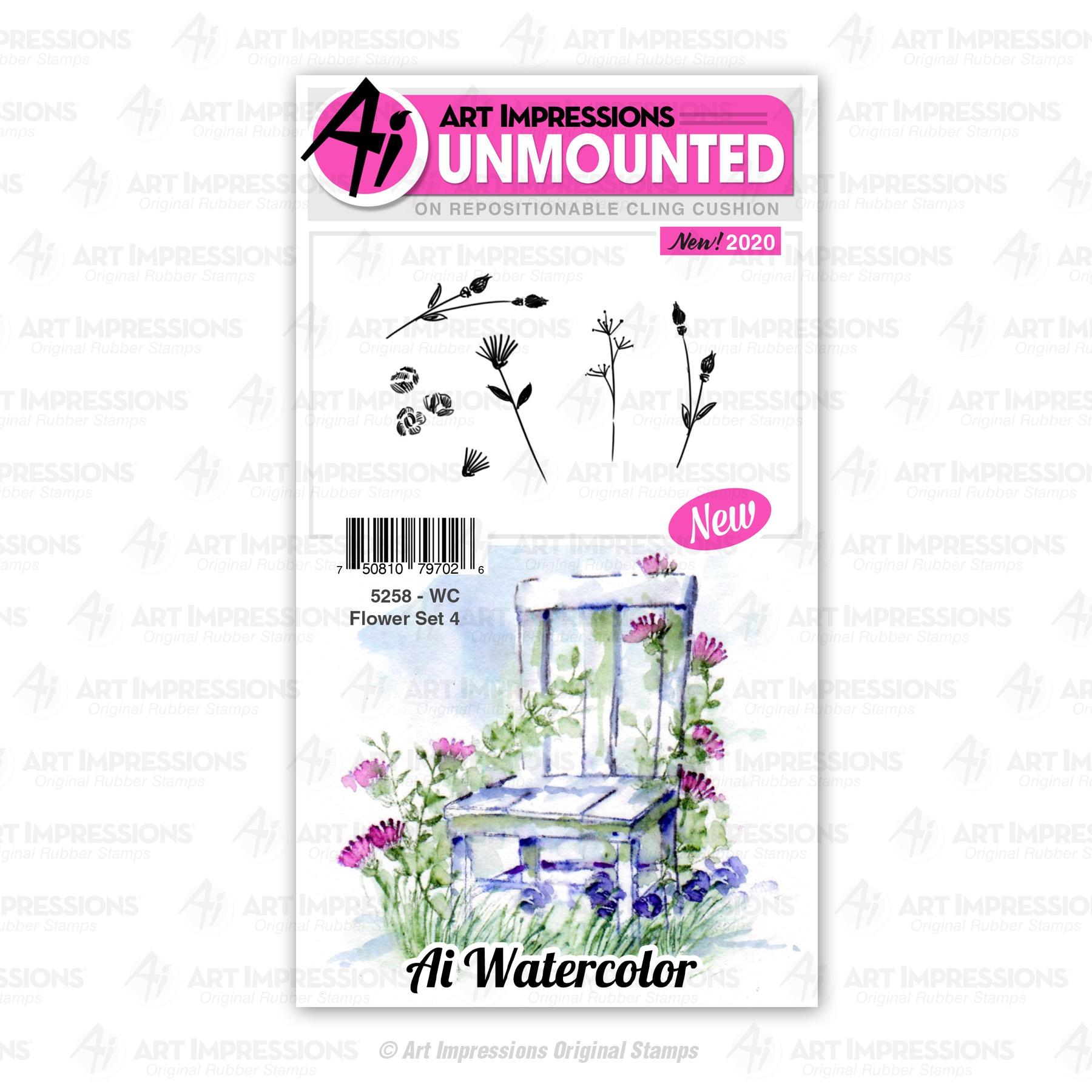 WC Flower Set 4 Stamp Set