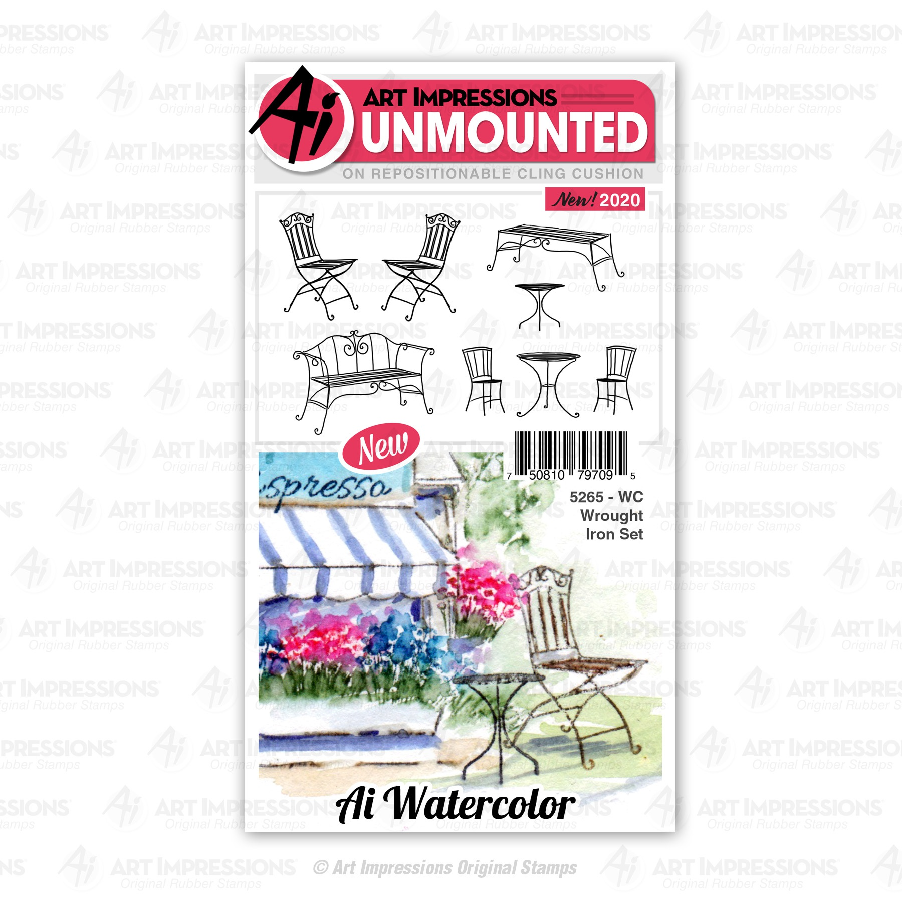 ^Art Impressions - Watercolor Stamps - Wrought Iron (5265)