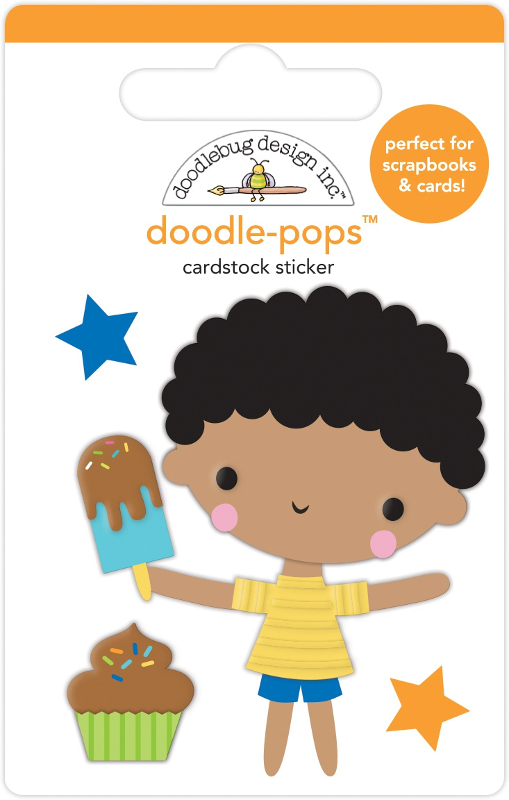 Doodlebug Doodle-Pops 3D Stickers-Treat Yourself Party Time