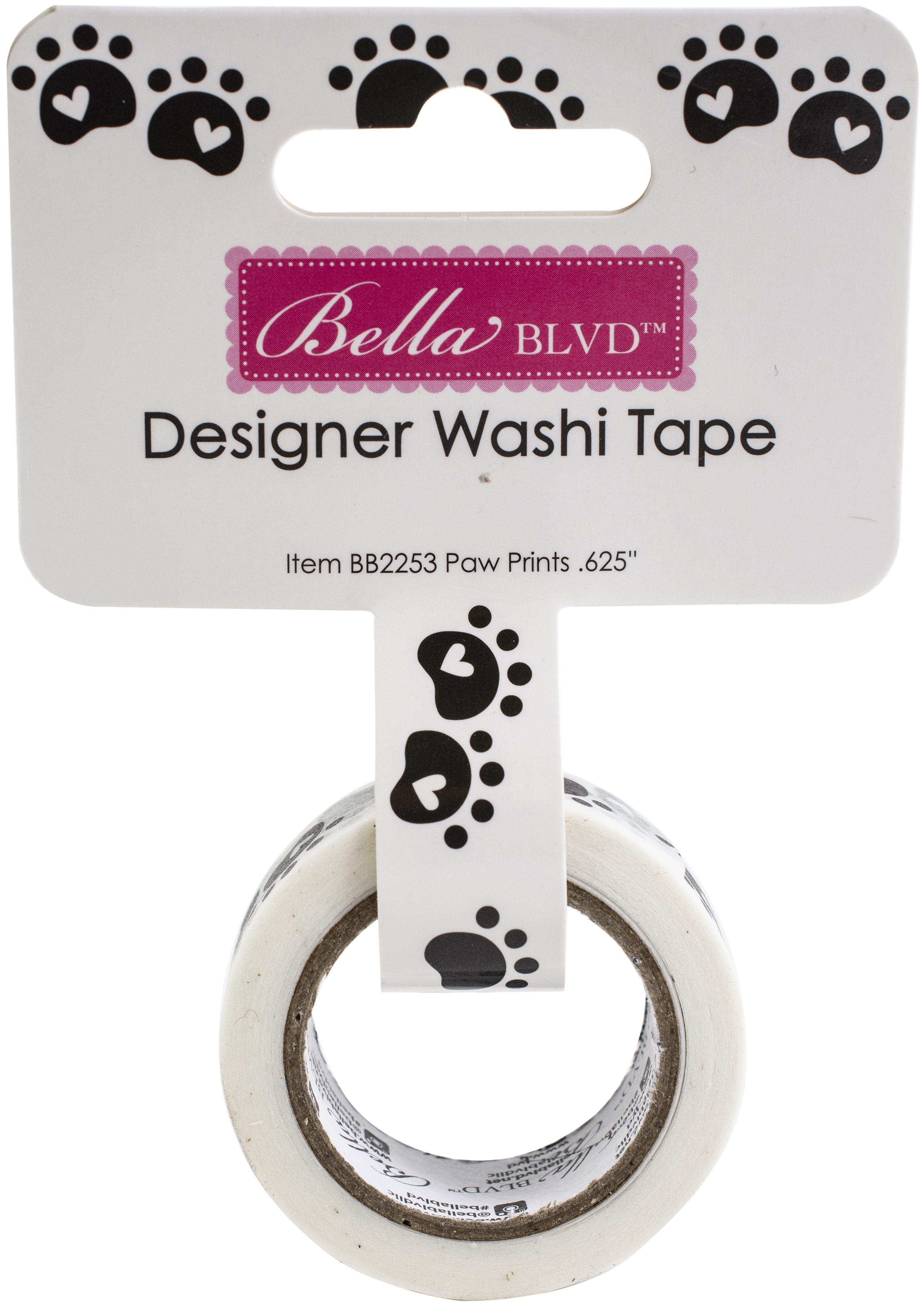 Cooper Washi Tape .625X30'-Paw Prints