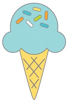 Doodlebug Party Time Collectible Enamel Pin- Sugar Cone
