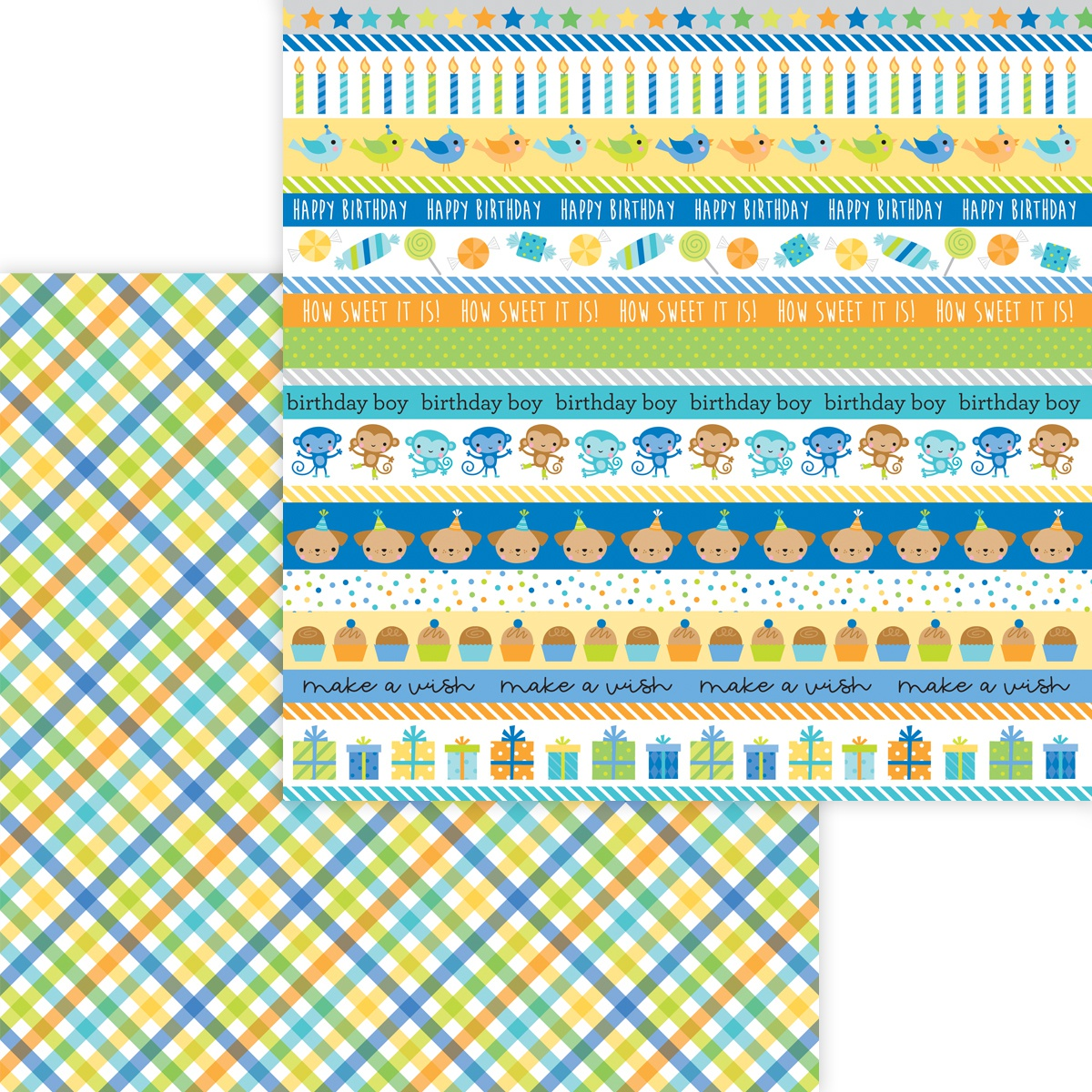 Party Time Double-Sided Cardstock 12X12-Party Boy