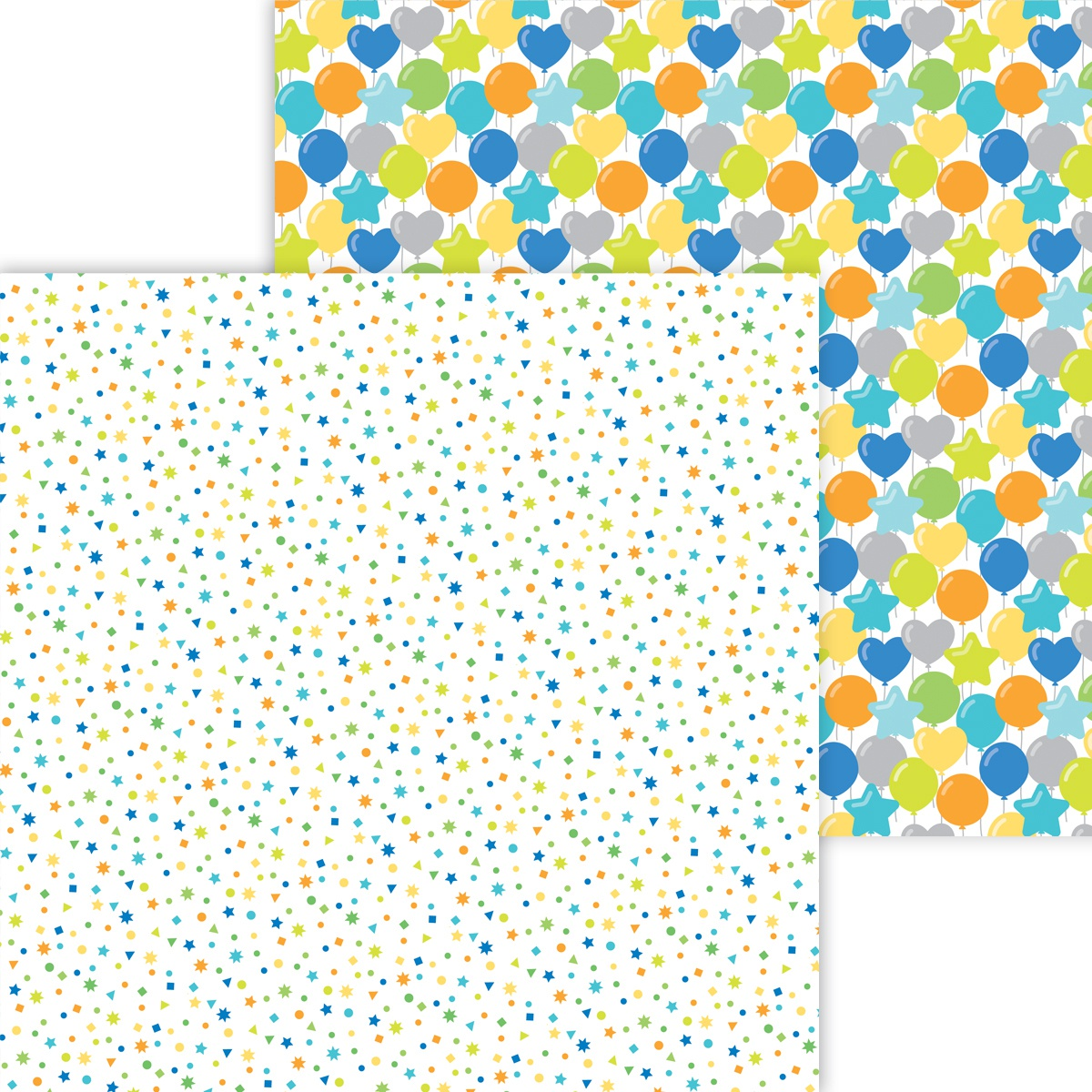 Party Time Double-Sided Cardstock 12X12-Confetti Fest