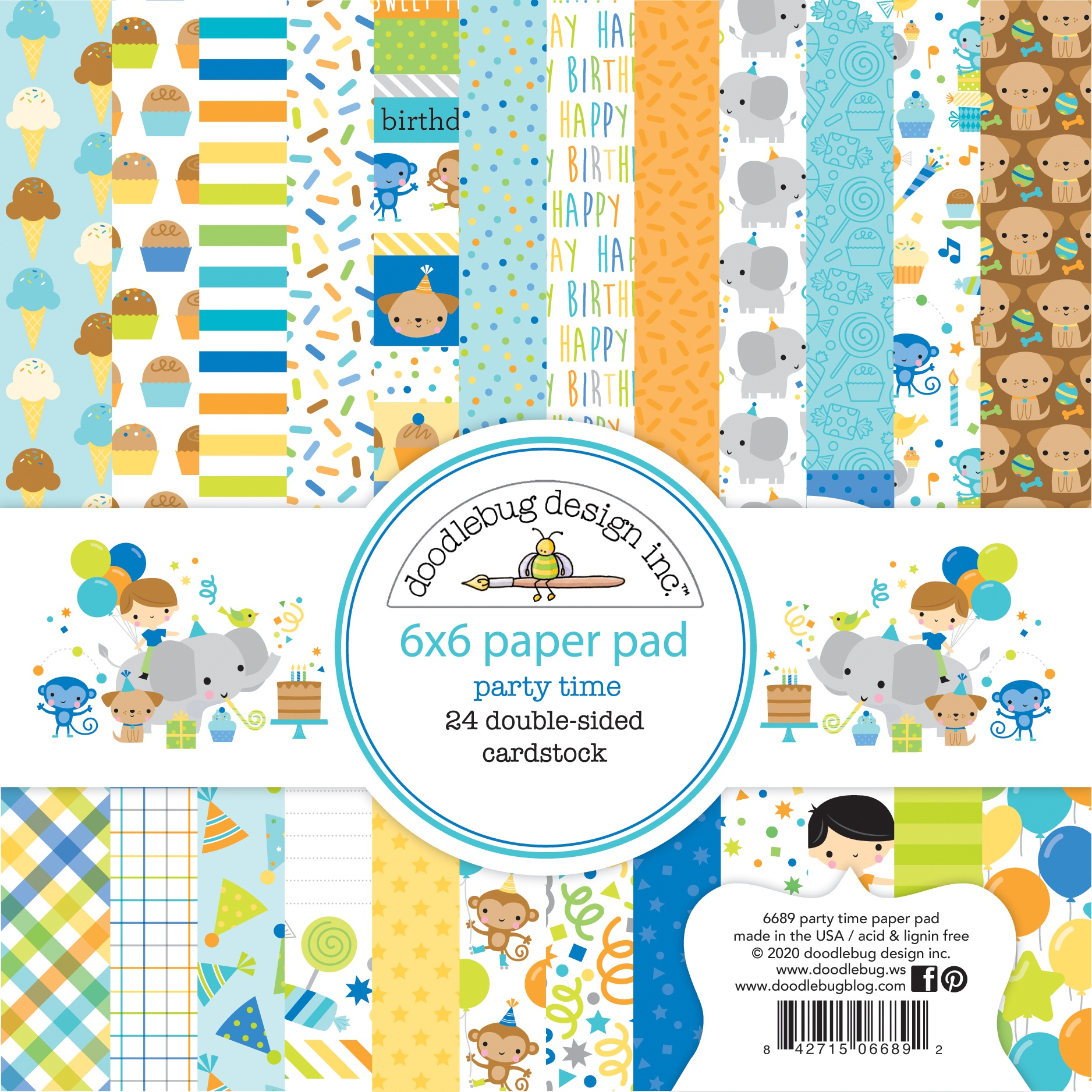 Doodlebug Party Time Paper Pad 6x6