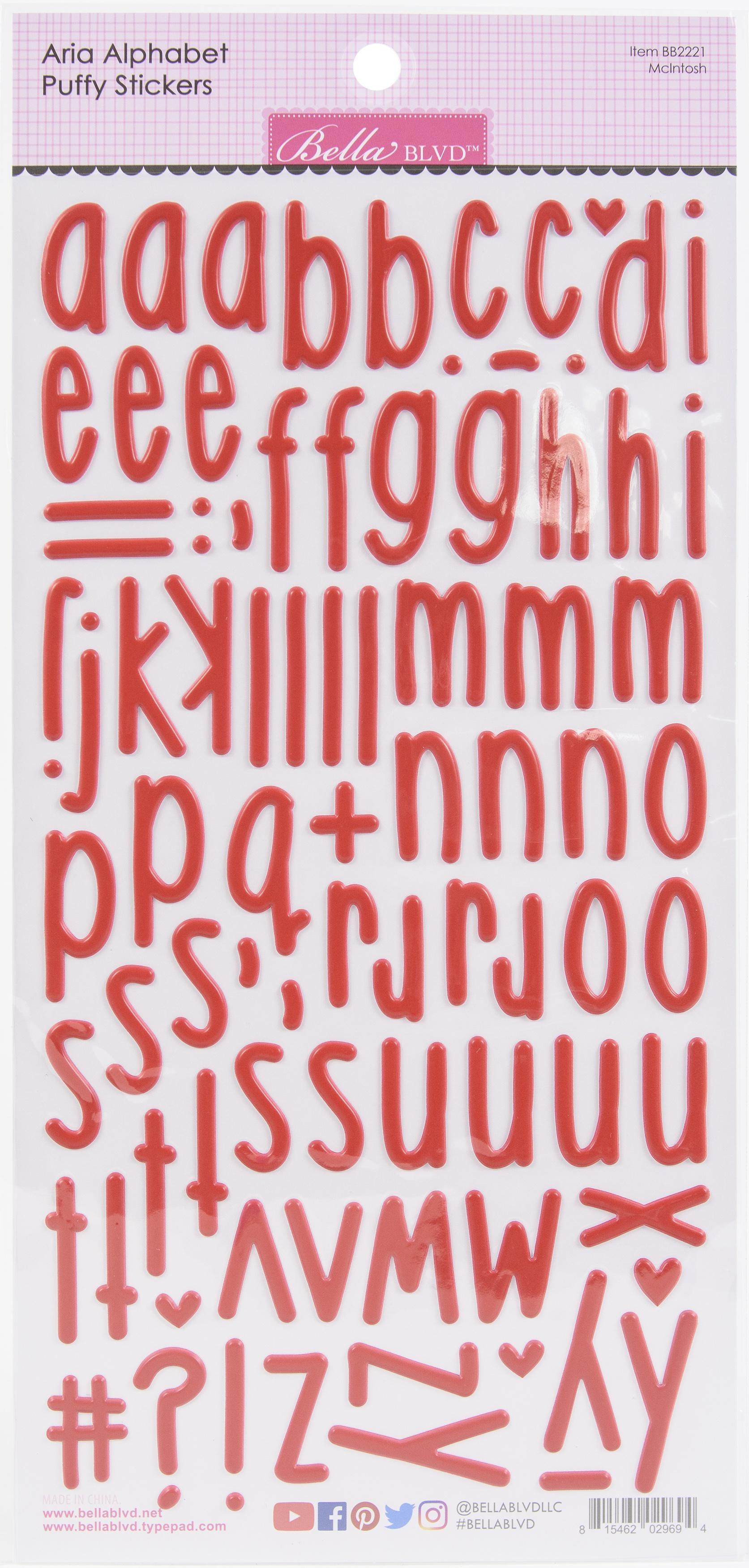 Aria Alpha Puffy Stickers-McIntosh
