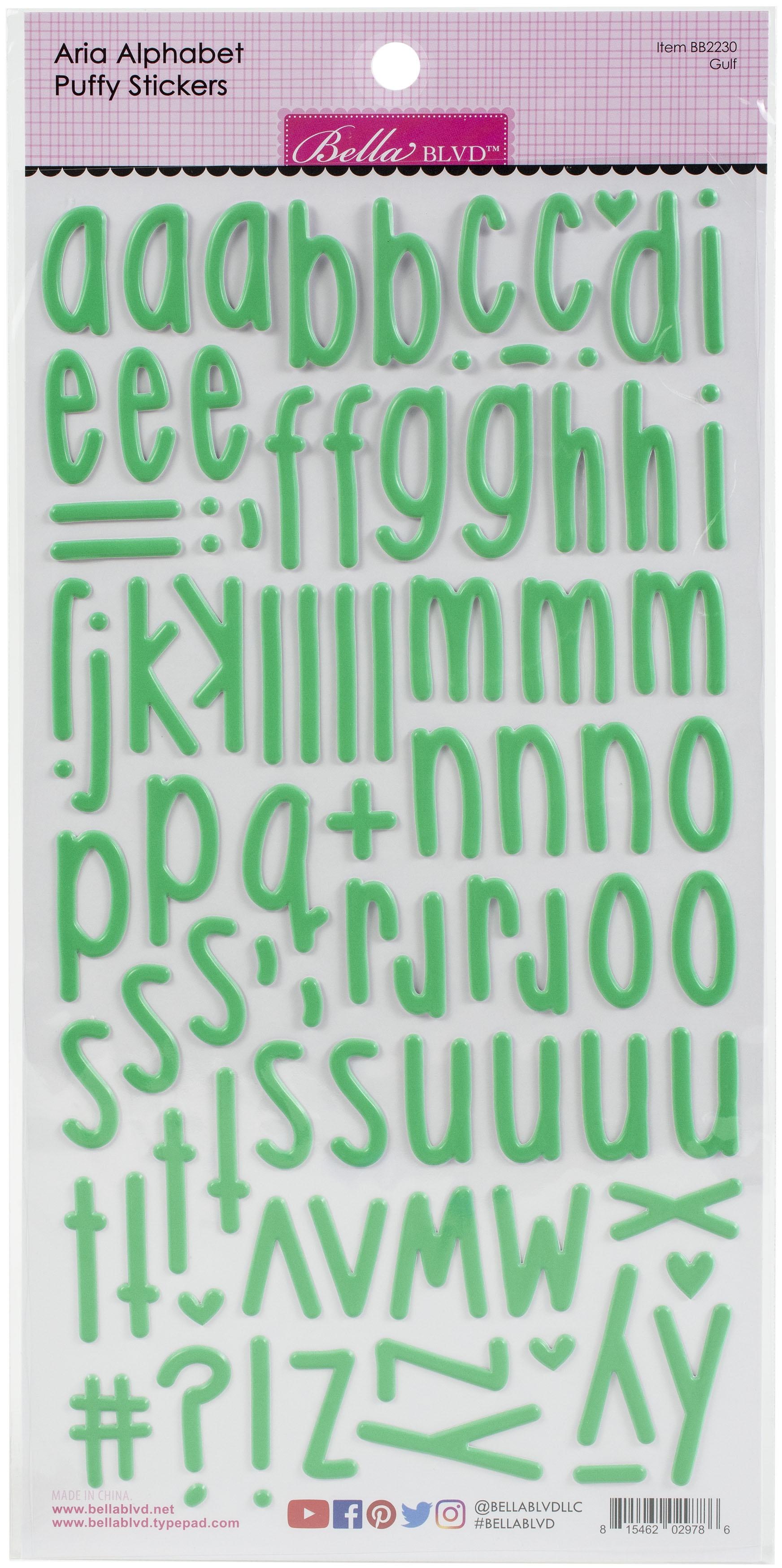Aria Alpha Puffy Stickers-Gulf