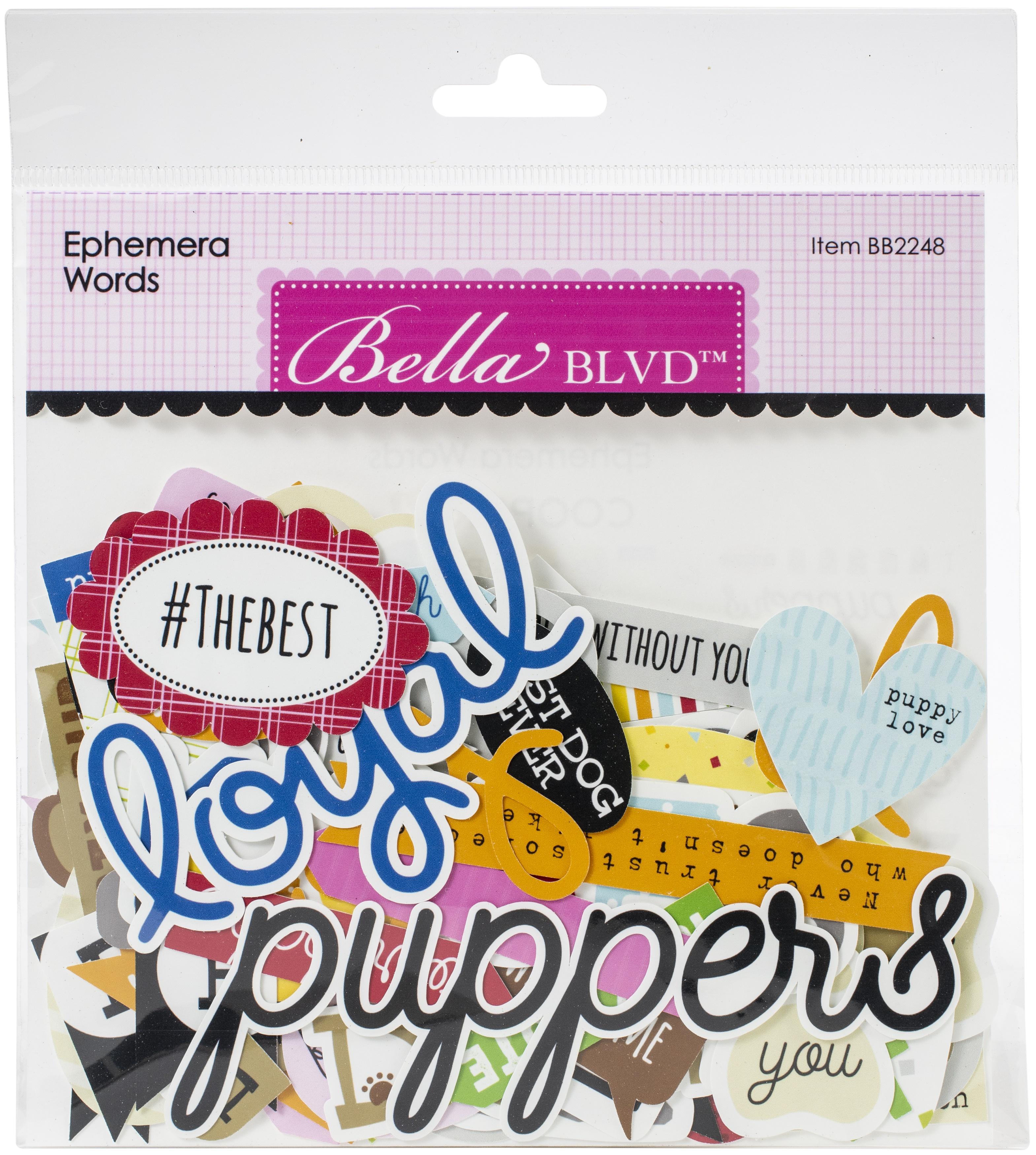 Bella Blvd Cardstock Ephemera-Words, Cooper