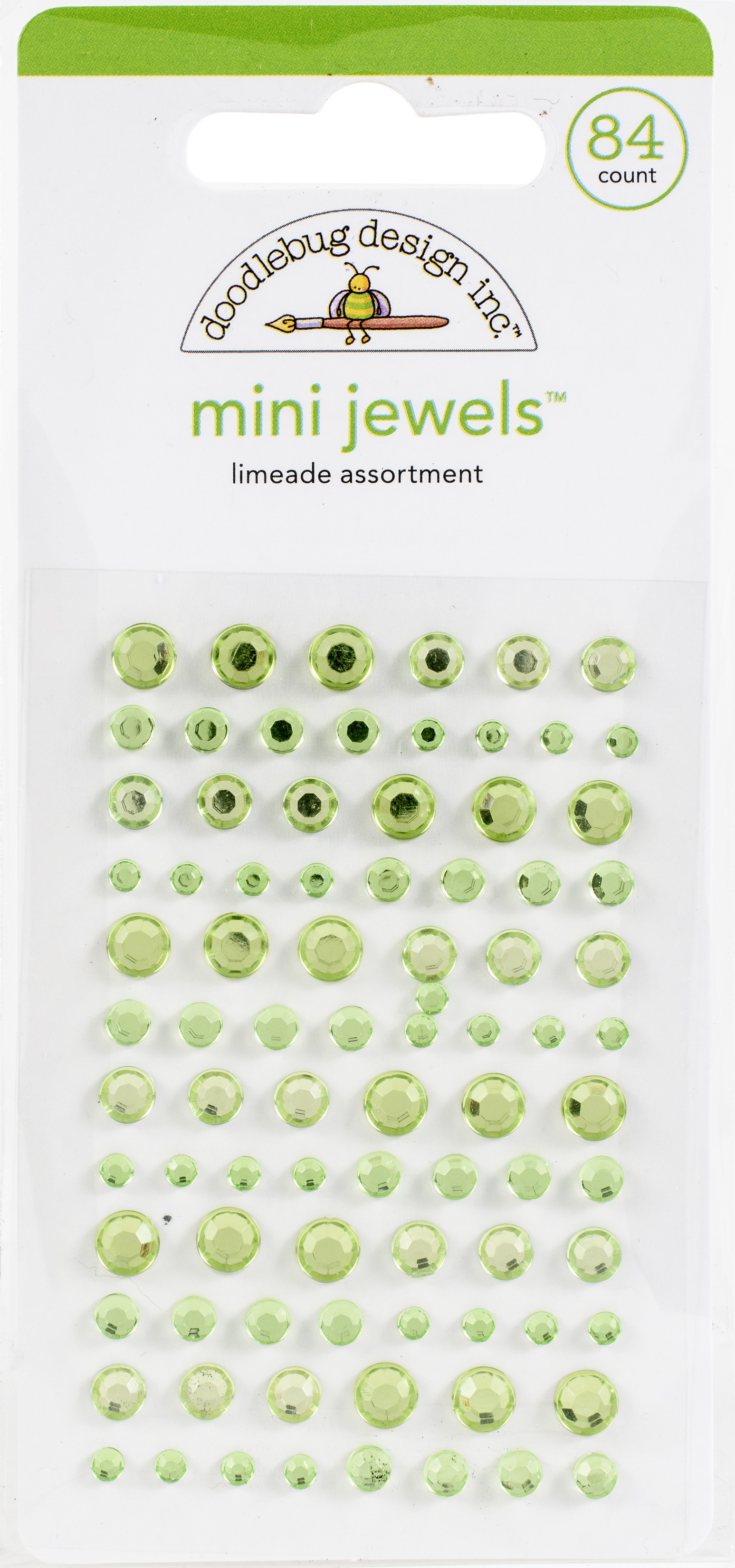 Doodlebug Adhesive Mini Jewels- Limeade