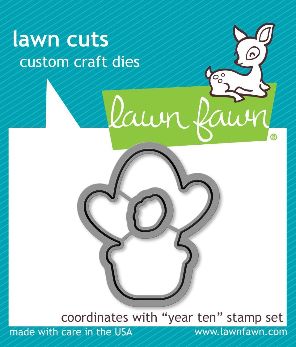 Lawn Fawn - Dies - Year Ten Coordinating Die Set