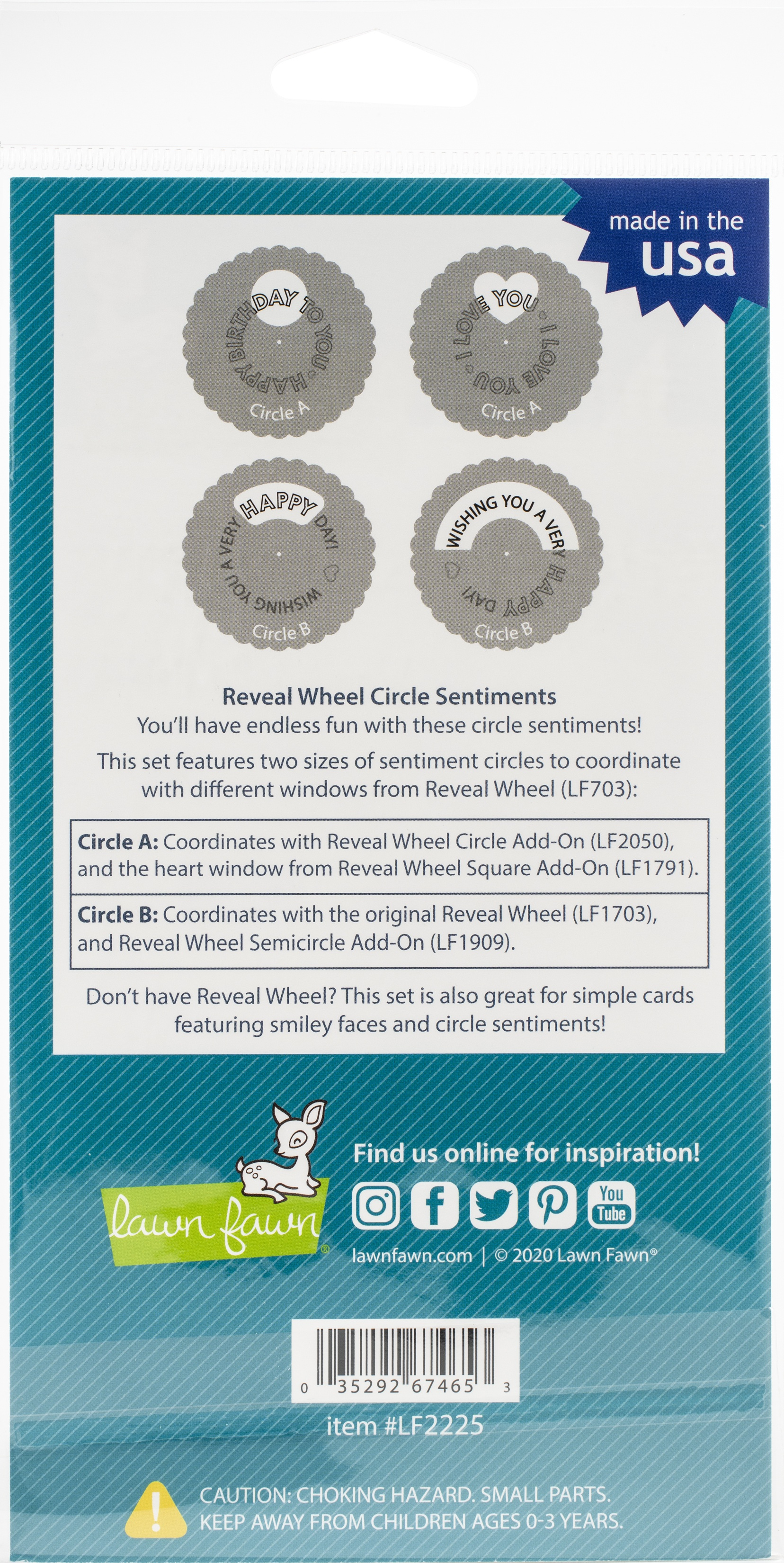 RW Circle Sentiments Stamps