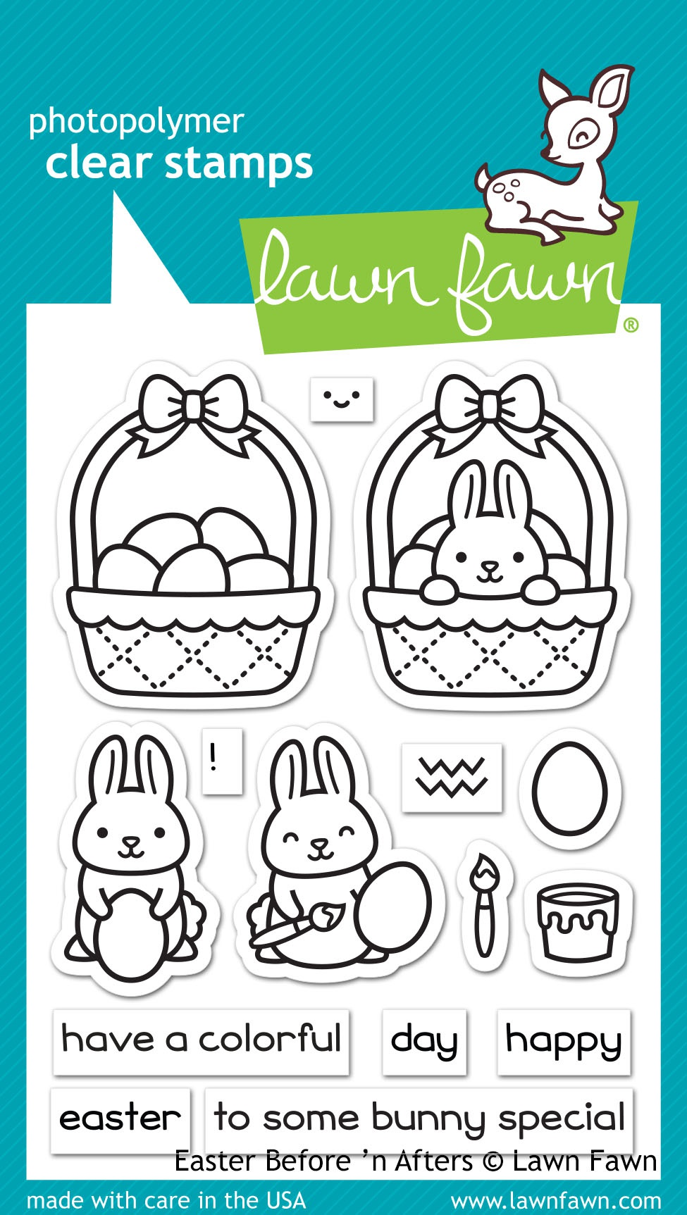 Lawn Fawn Clear Stamps 3X4-Easter Before 'n Afters