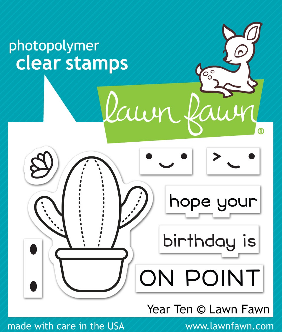 Lawn Fawn Clear Stamps 3X2-Year Ten
