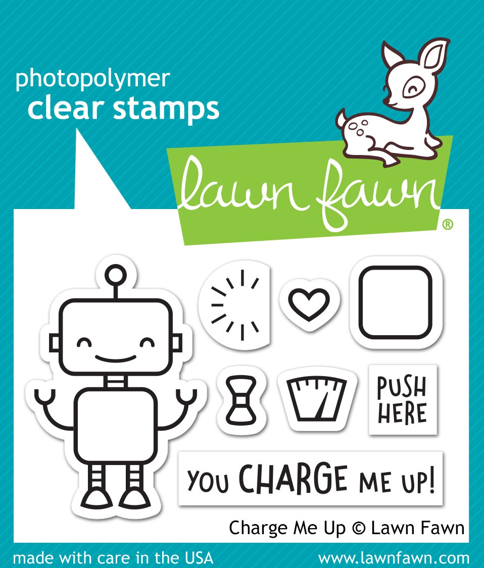 Lawn Fawn Clear Stamps 3X2-Charge Me Up