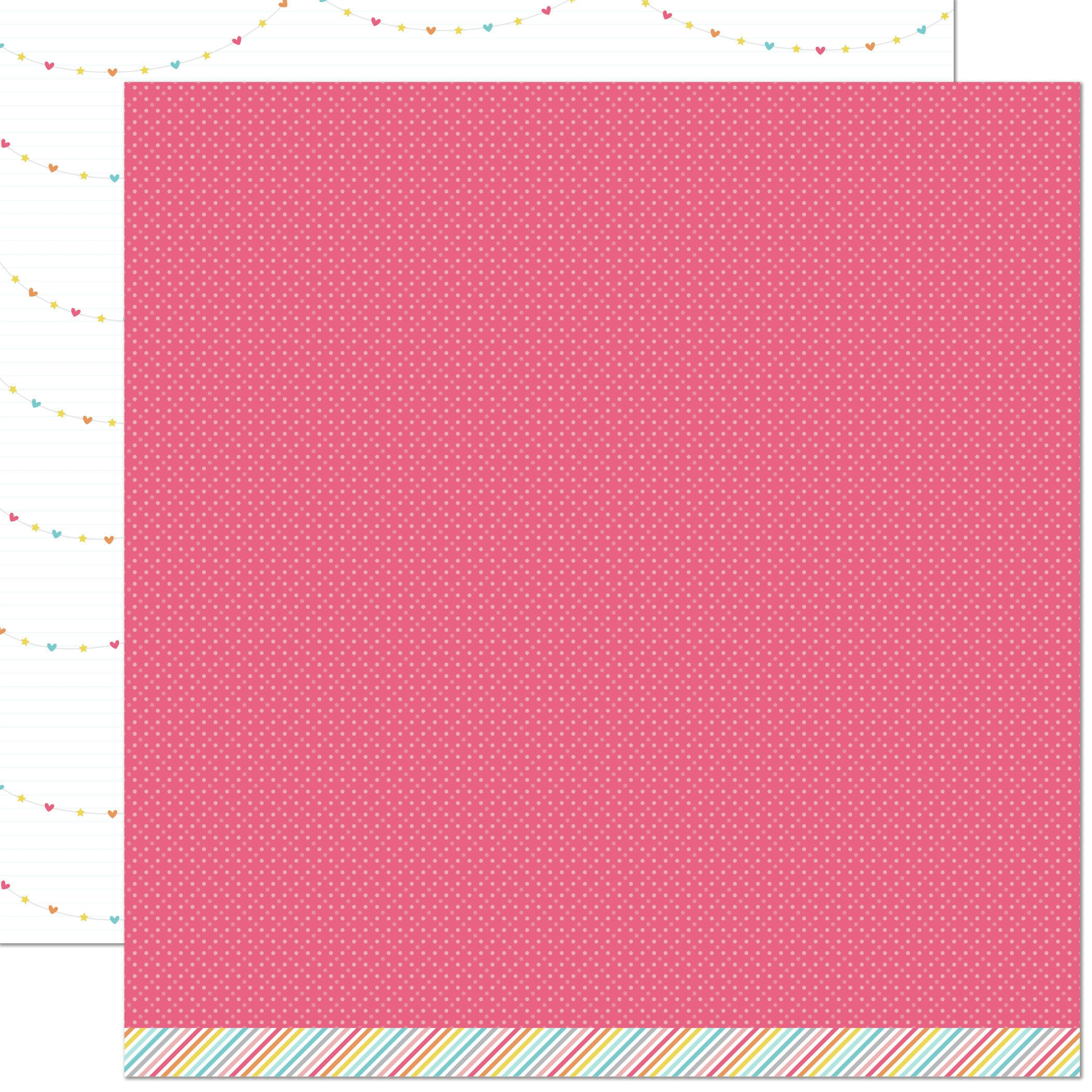 Lawn Fawn Hello Sunshine Double-Sided Cardstock 12X12-Claire Remix