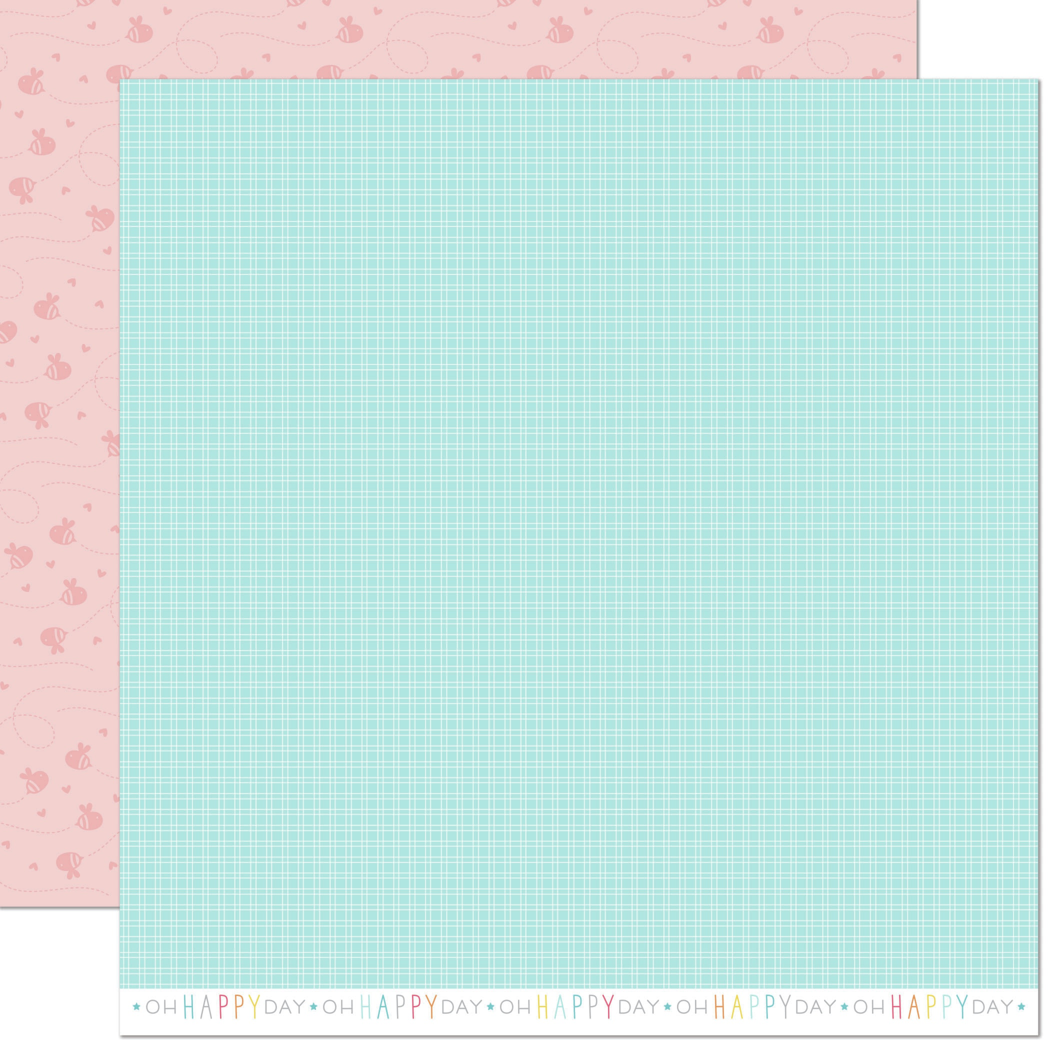 Lawn Fawn Hello Sunshine Double-Sided Cardstock 12X12-Mae Remix