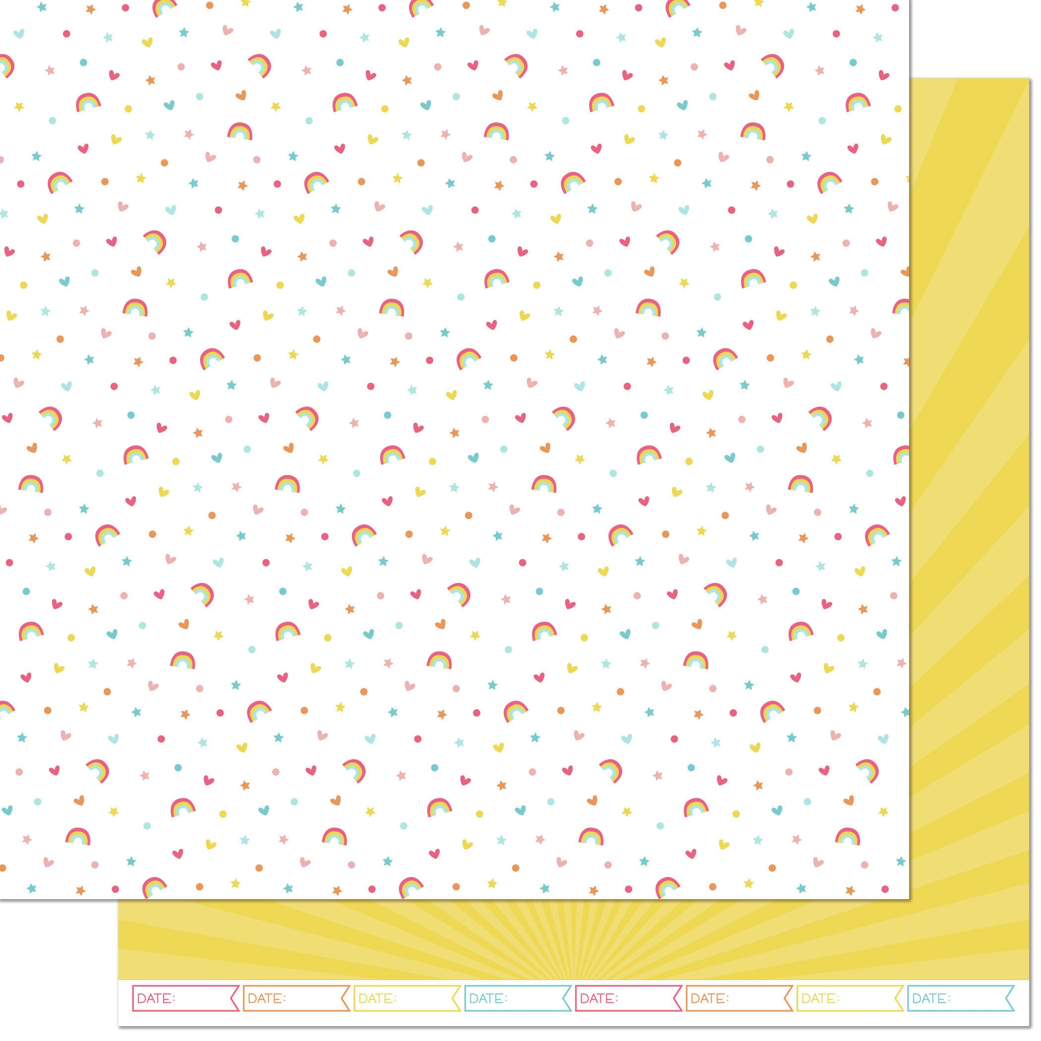 Lawn Fawn Hello Sunshine Double-Sided Cardstock 12X12-April Remix