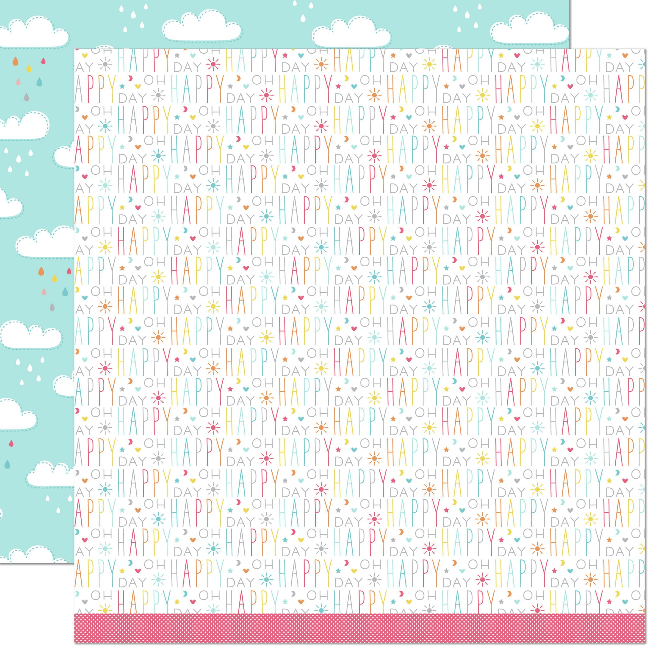 Lawn Fawn Hello Sunshine Double-Sided Cardstock 12X12-Skyler Remix
