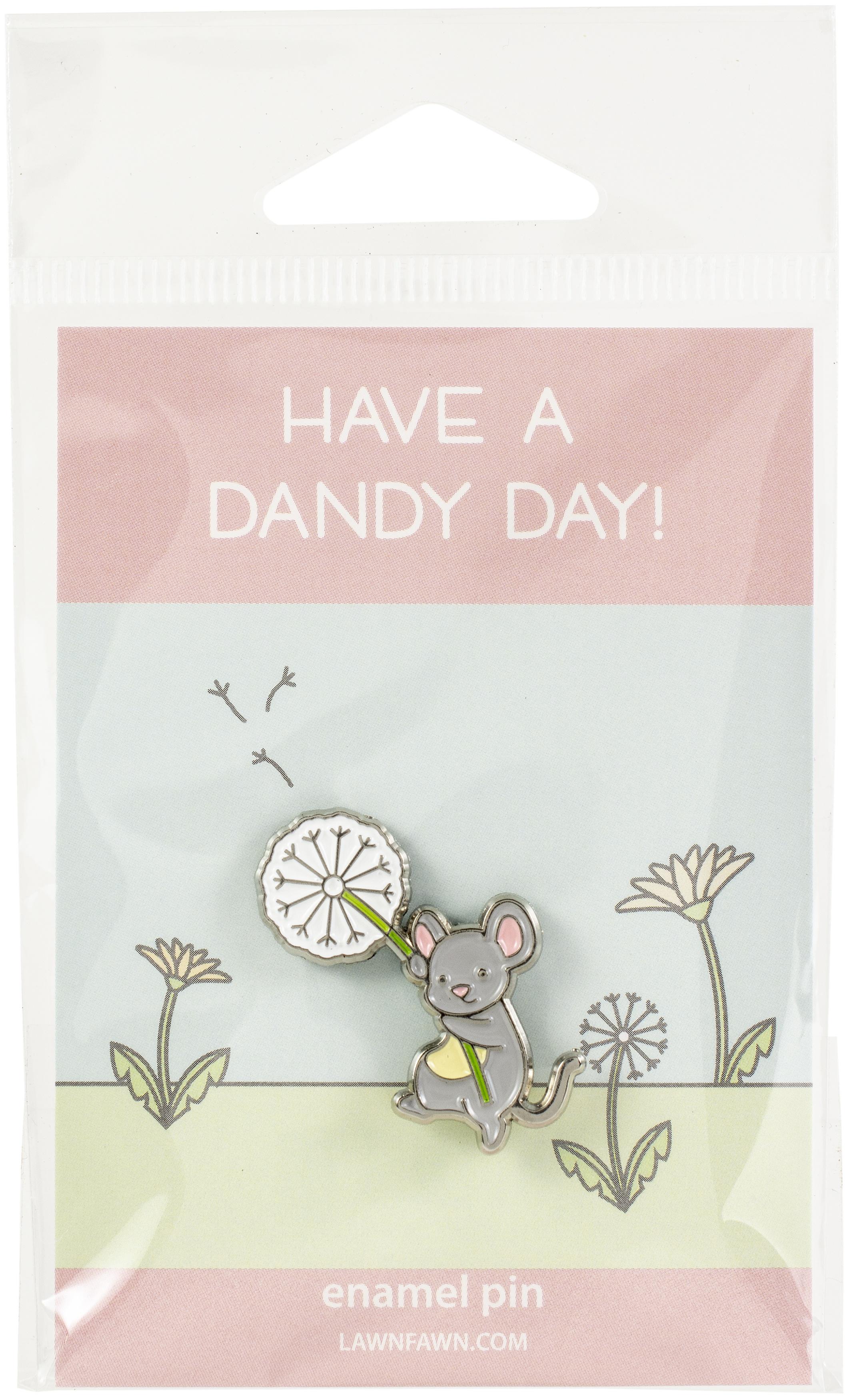 Lawn Ornaments Enamel Pin-Dandy Mouse