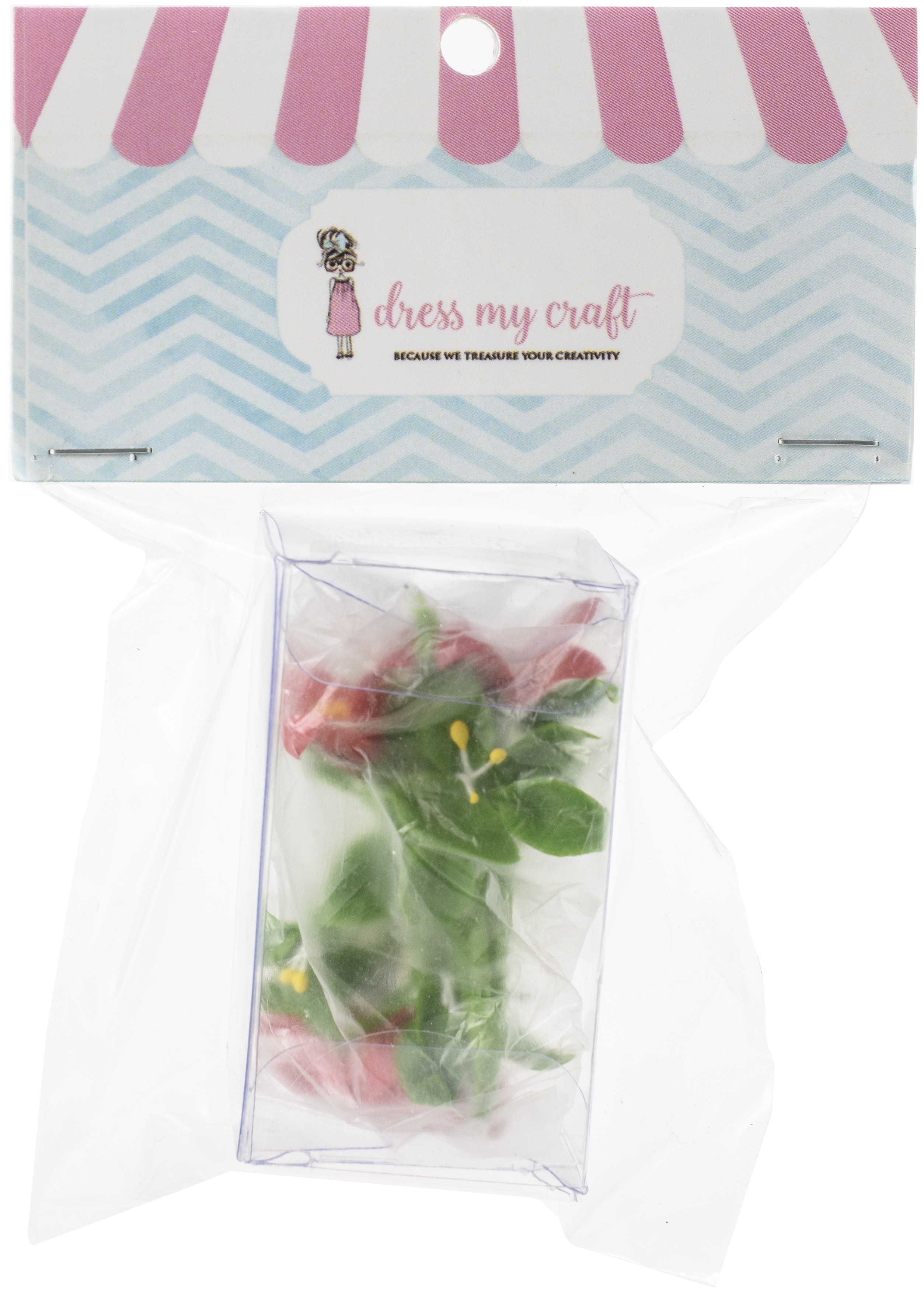 Dress My Craft Miniature Flower Poinsettia Bunch 2/Pkg-