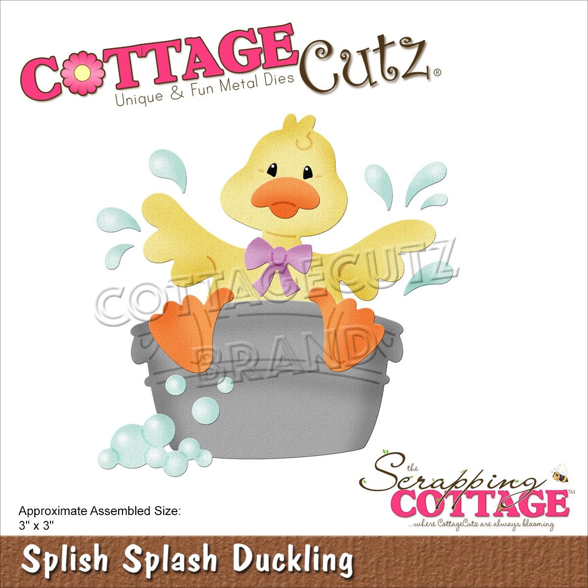 CottageCutz Dies-Splish Splash Duckling 3X3