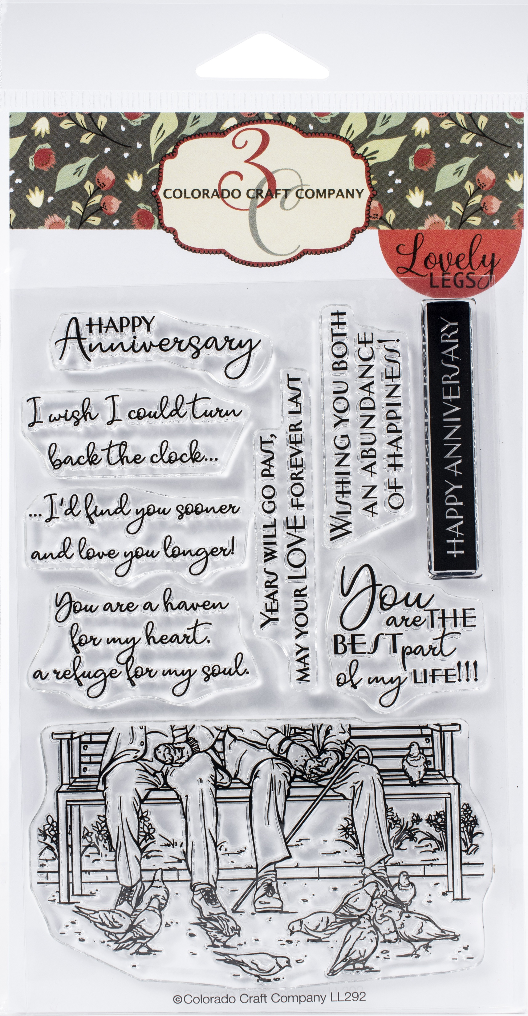 Colorado Craft Company Clear Stamps 4X6-Best Life-Lovely Legs