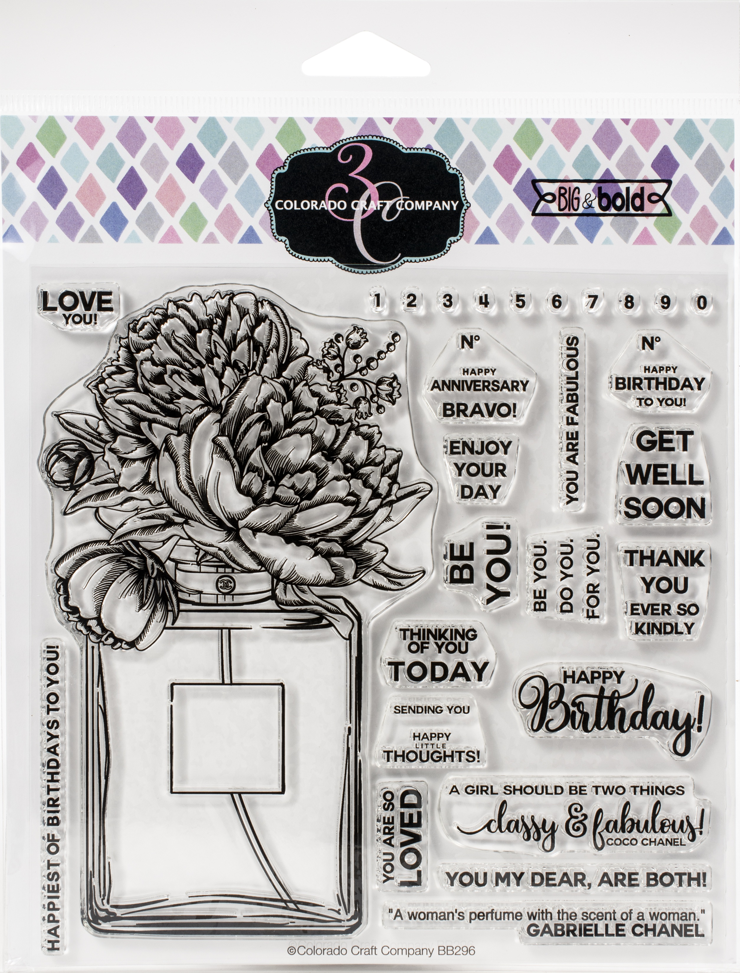 Colorado Craft Company Clear Stamps 6X6-Perfume Bouquet-Big & Bold