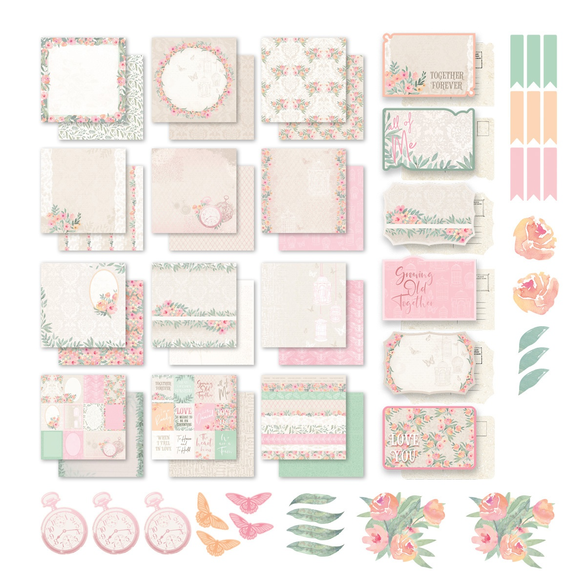 Couture Creations My Secret Love 12X12 Collection-Stickers, Postcards & Papers