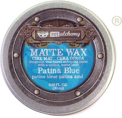 Finnabair Art Alchemy Matte Wax .68 Fluid Ounce-Patina Blue