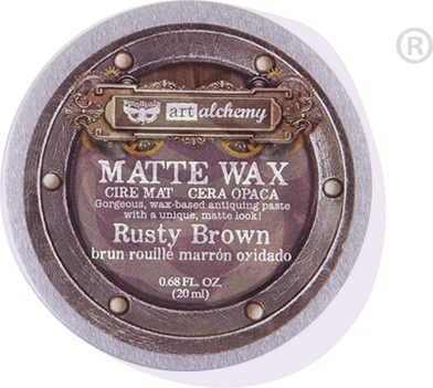 Finnabair Art Alchemy Matte Wax .68 Fluid Ounce-Rusty Brown