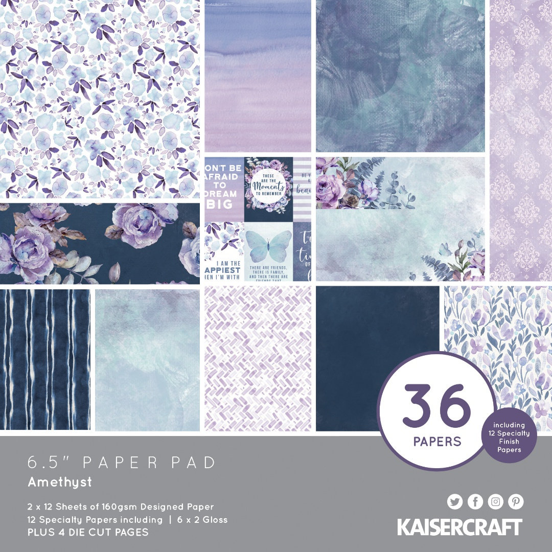 Kaisercraft Paper Pad 6.5X6.5 40/Pkg-Amethyst