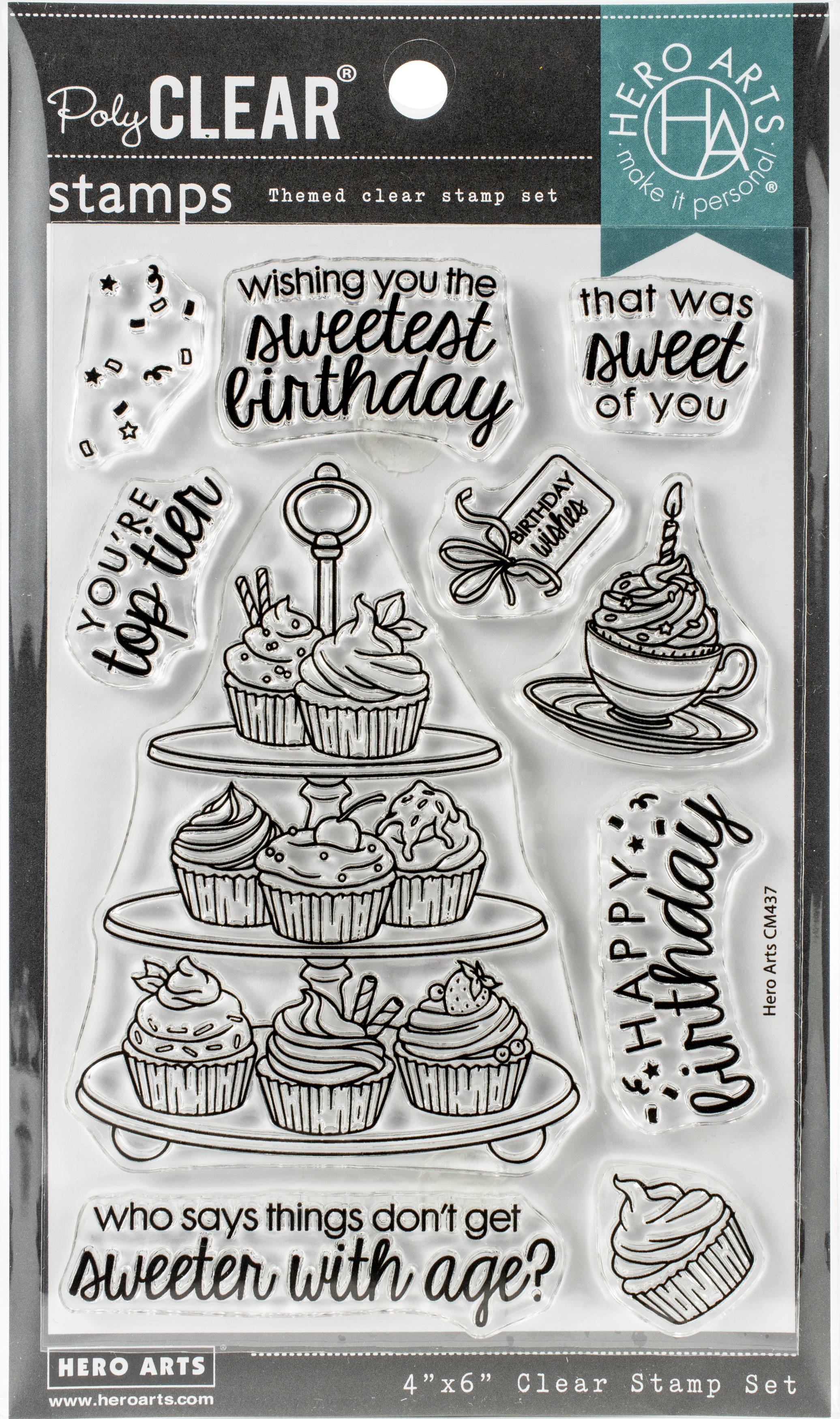 Hero Arts Die and  Clear Stamps 4X6-You're Top Tier