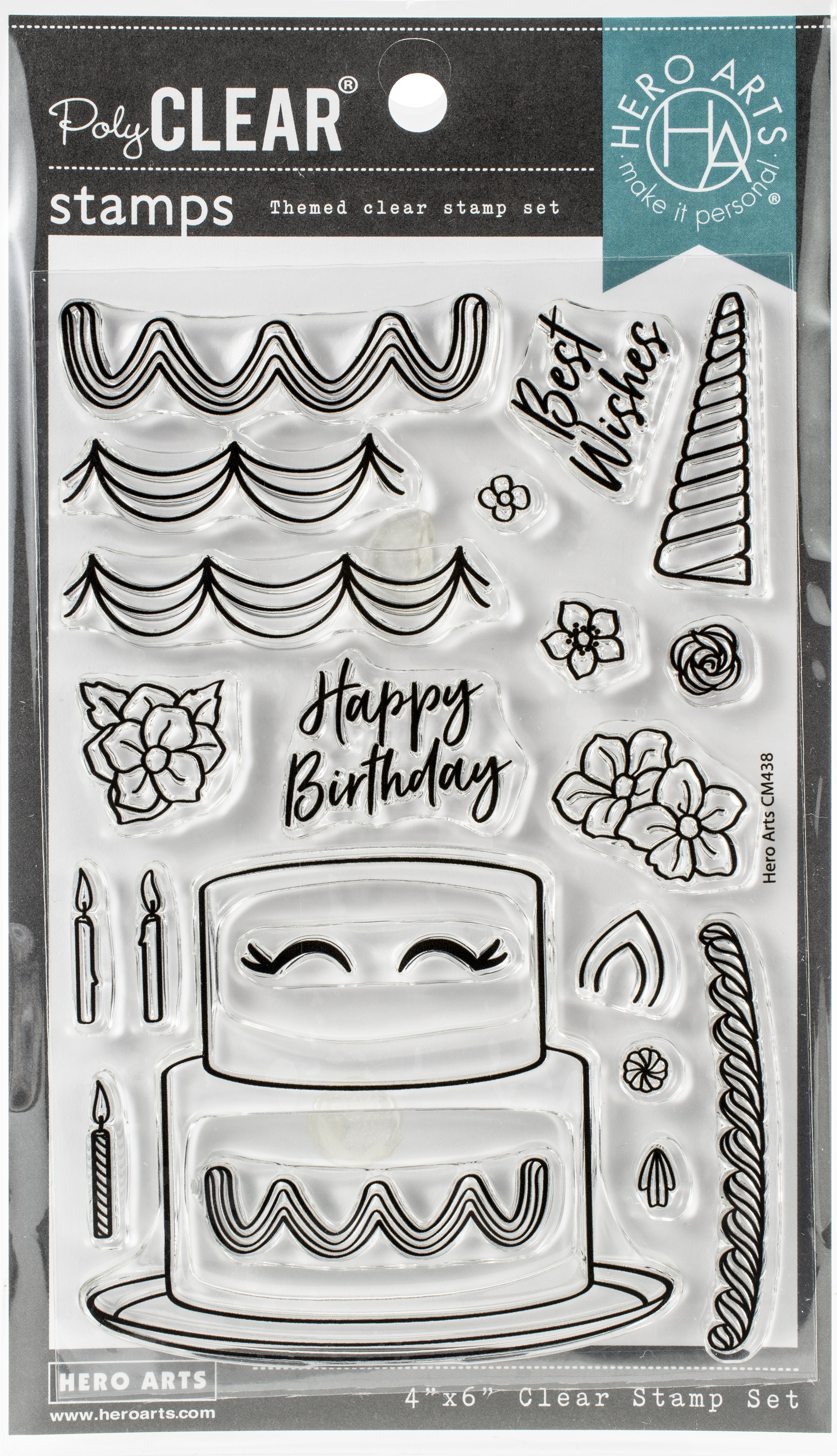 Hero Arts Clear Stamp and Die - Decorate A Cake