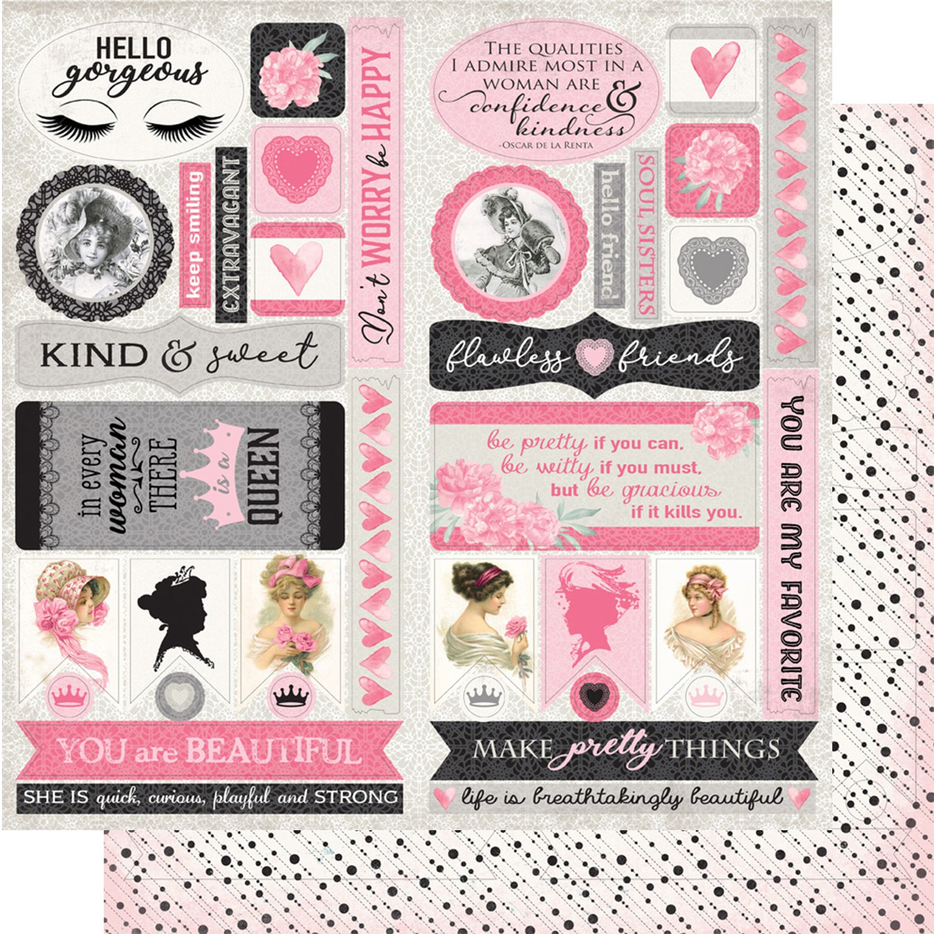 Flawless Double-Sided Cardstock Die-Cut Sheet 12X12-Elements