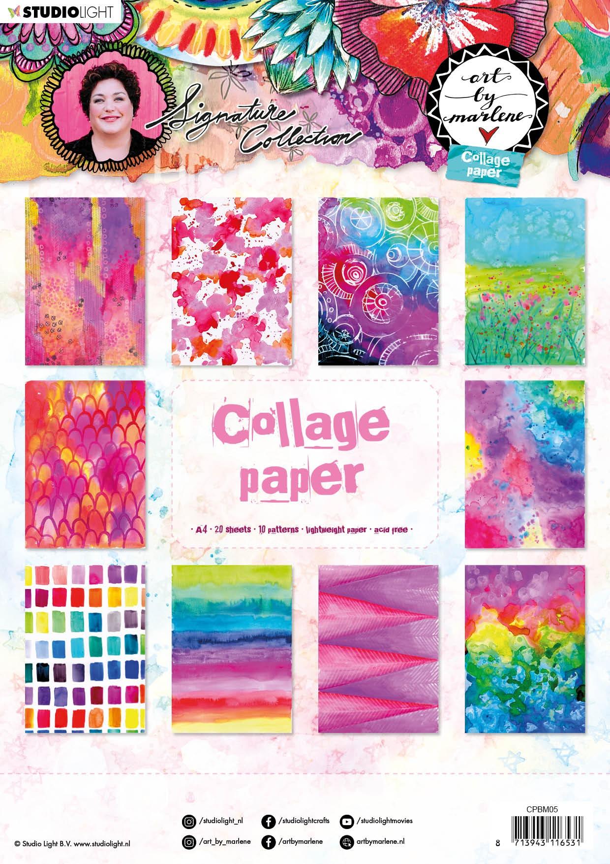 Art By Marlene 5.0 Collage Paper A4 20/Pkg-NR. 05, 10 Designs/2 Each
