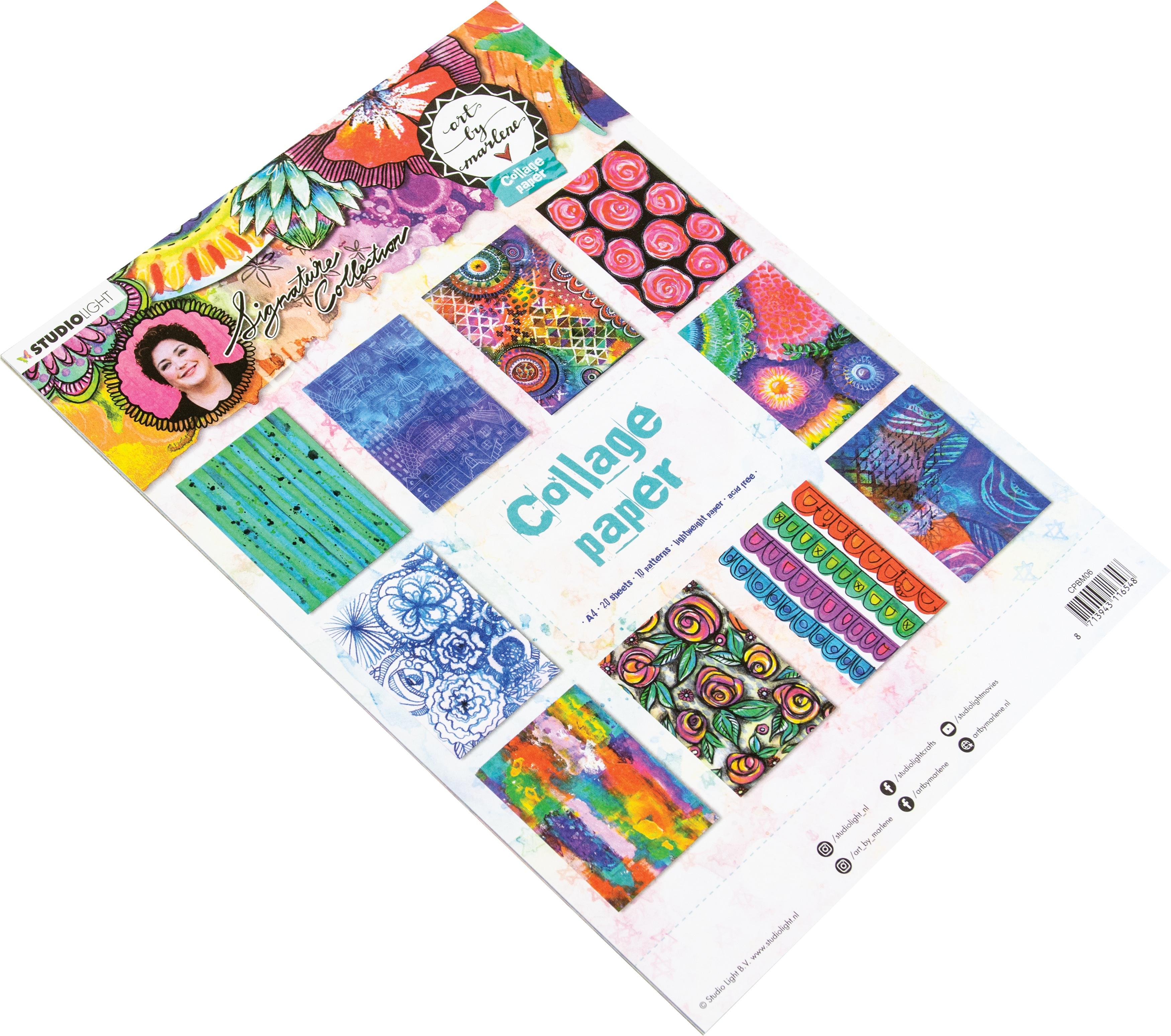 Art By Marlene - 5.0 Collage Paper A4 20/Pkg-NR. 06, 10 Designs/2 Each