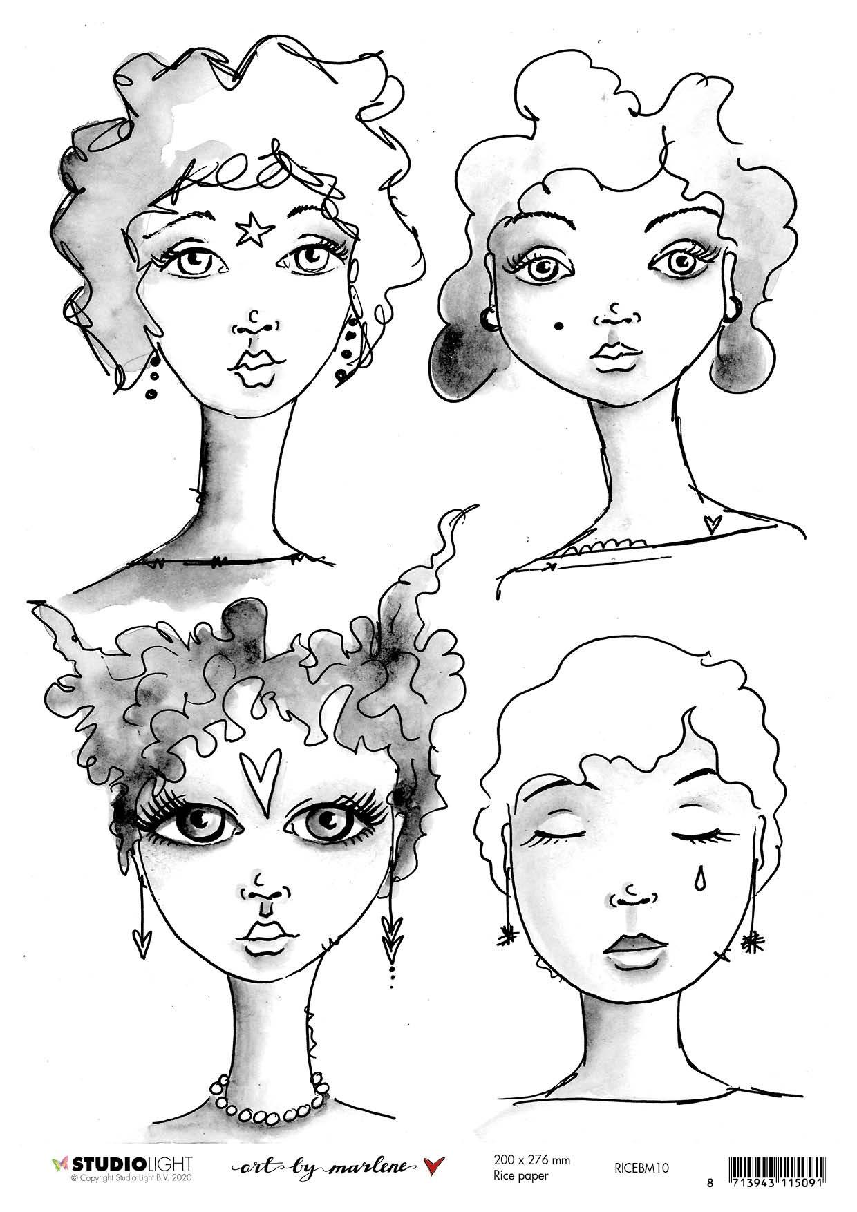 Art By Marlene - 5.0 Rice Paper Sheet A4 - NR. 10