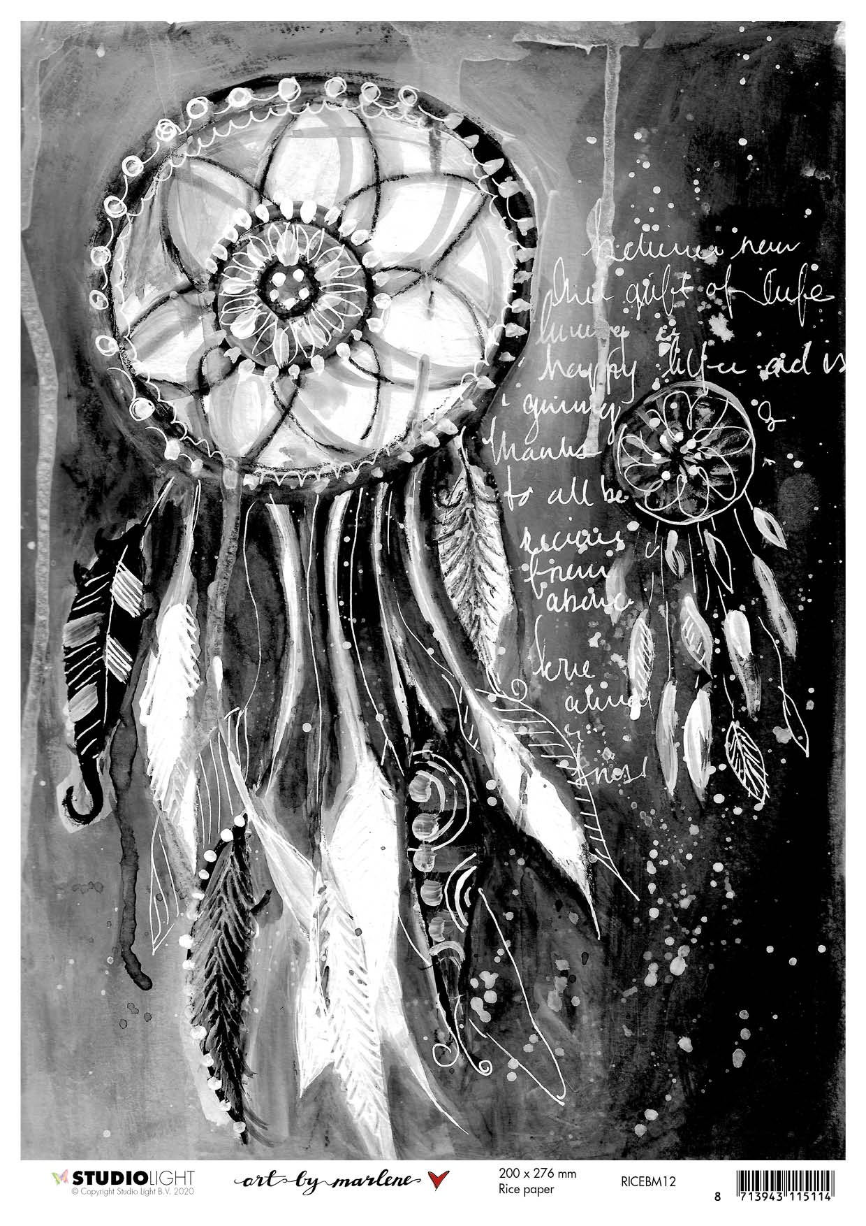 Art By Marlene - 5.0 Rice Paper Sheet A4 - NR. 12