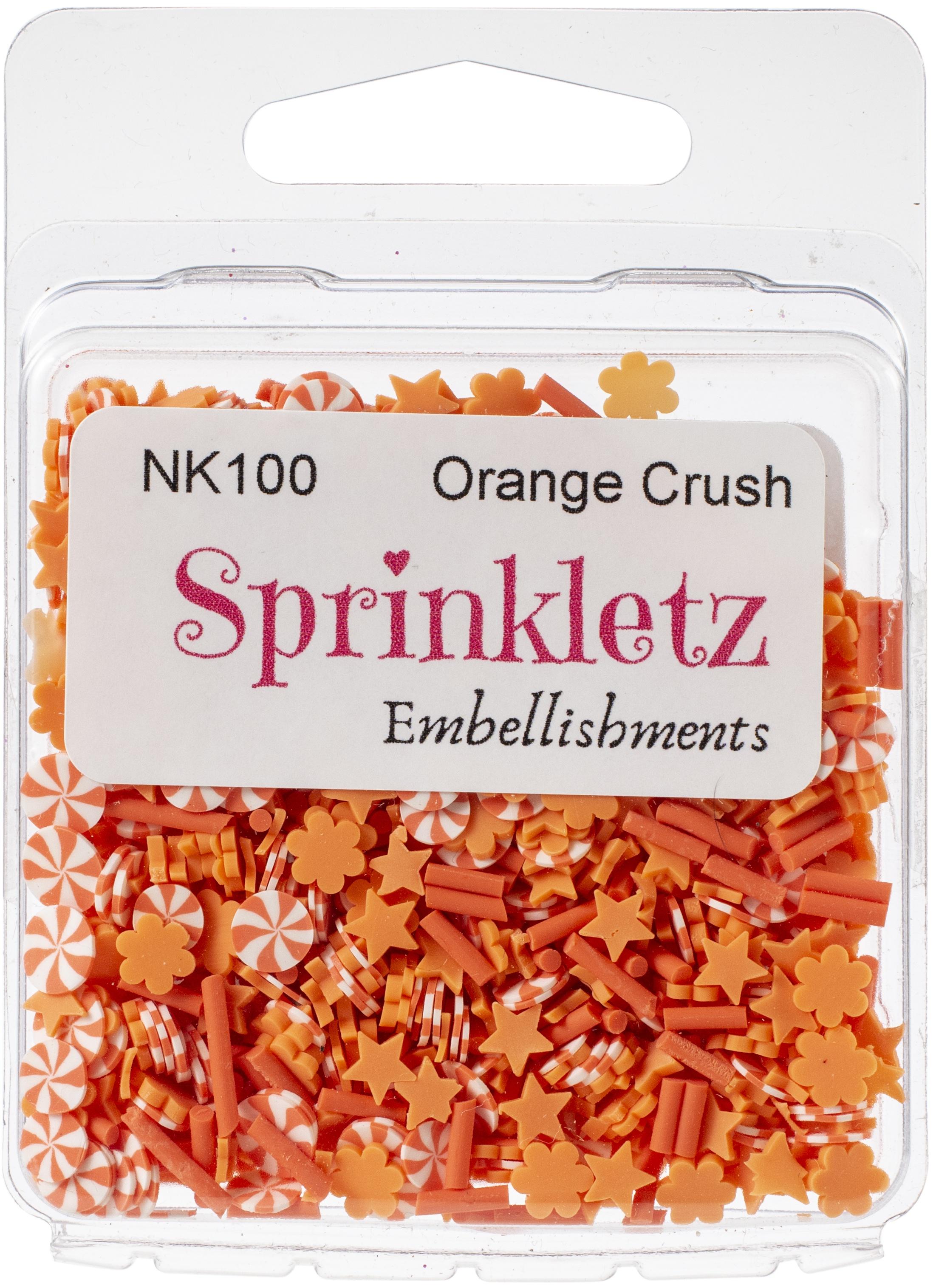 Buttons Galore Sprinkletz Embellishments 12g-Orange Crush