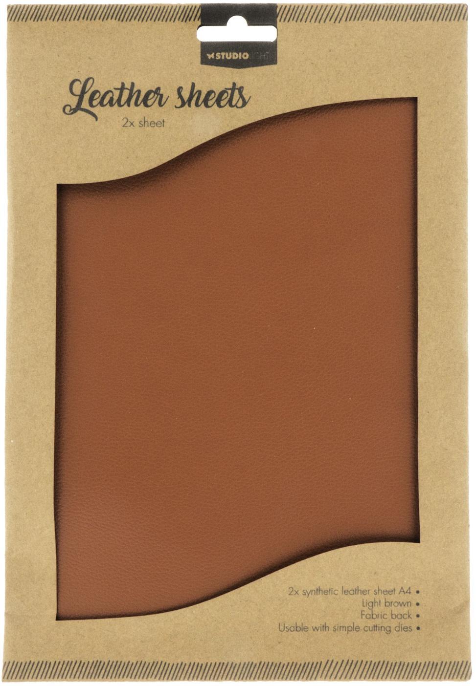 Art by Marlene - Faux Leather Sheets - Light Brown 2/pkg