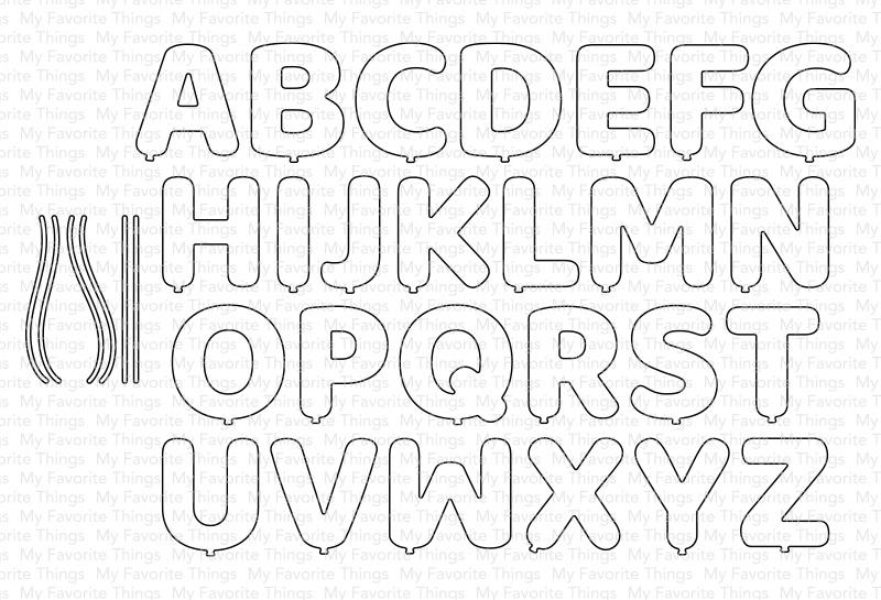 My Favorite Things Die-namics Die-Pumped-Up Alphabet